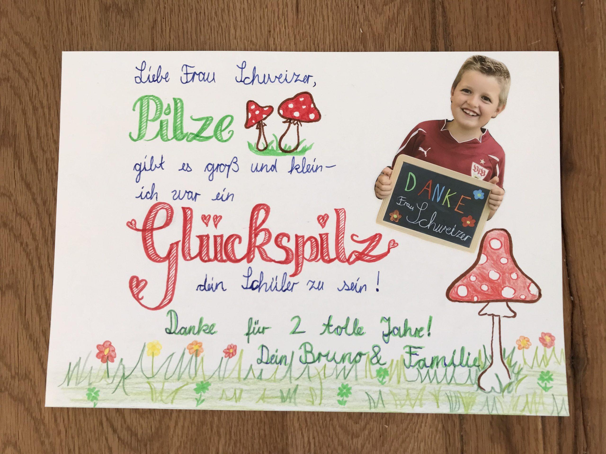Abschied Lehrer Album Schule Glückspilz (Mit Bildern innen Abschiedssprüche Für Lehrer Grundschule