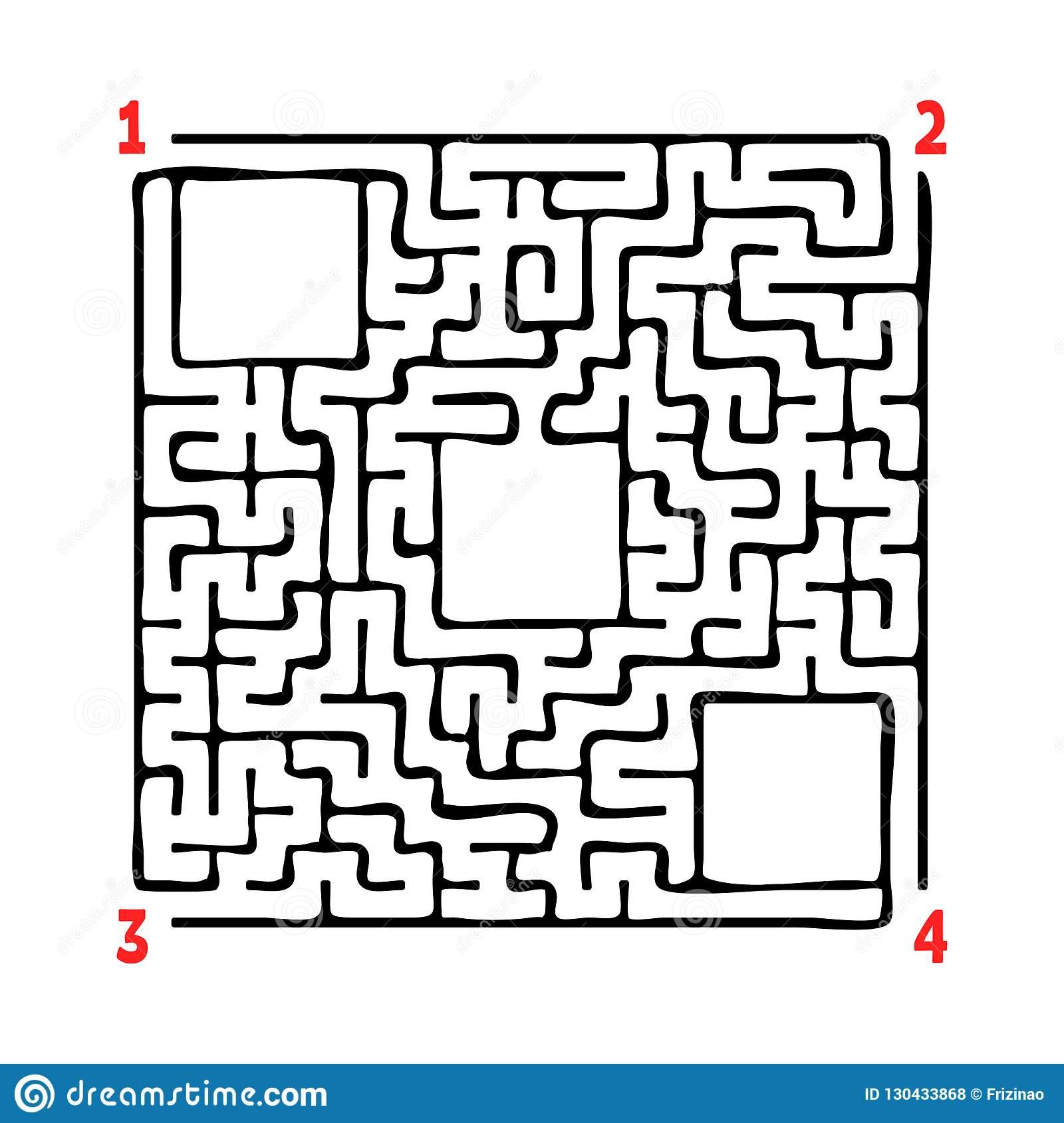 Abstraktes Quadratisches Labyrinth Spiel Für Kinder über Labyrinth Spiele Kostenlos