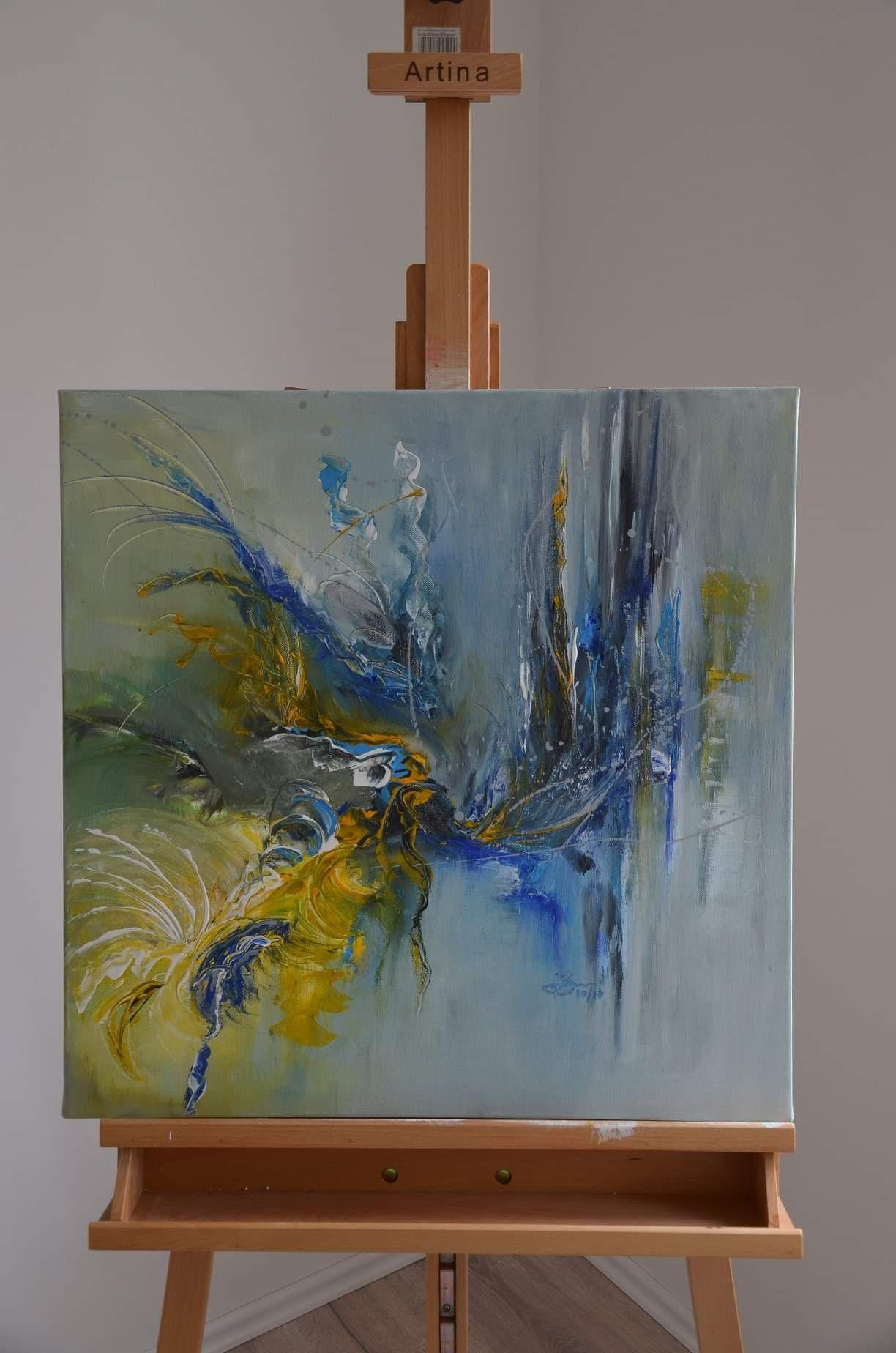 Acryl Auf Leinwand - Hat Etwa Von Einer Art Wasserfall By ganzes Malvorlagen Acrylmalerei