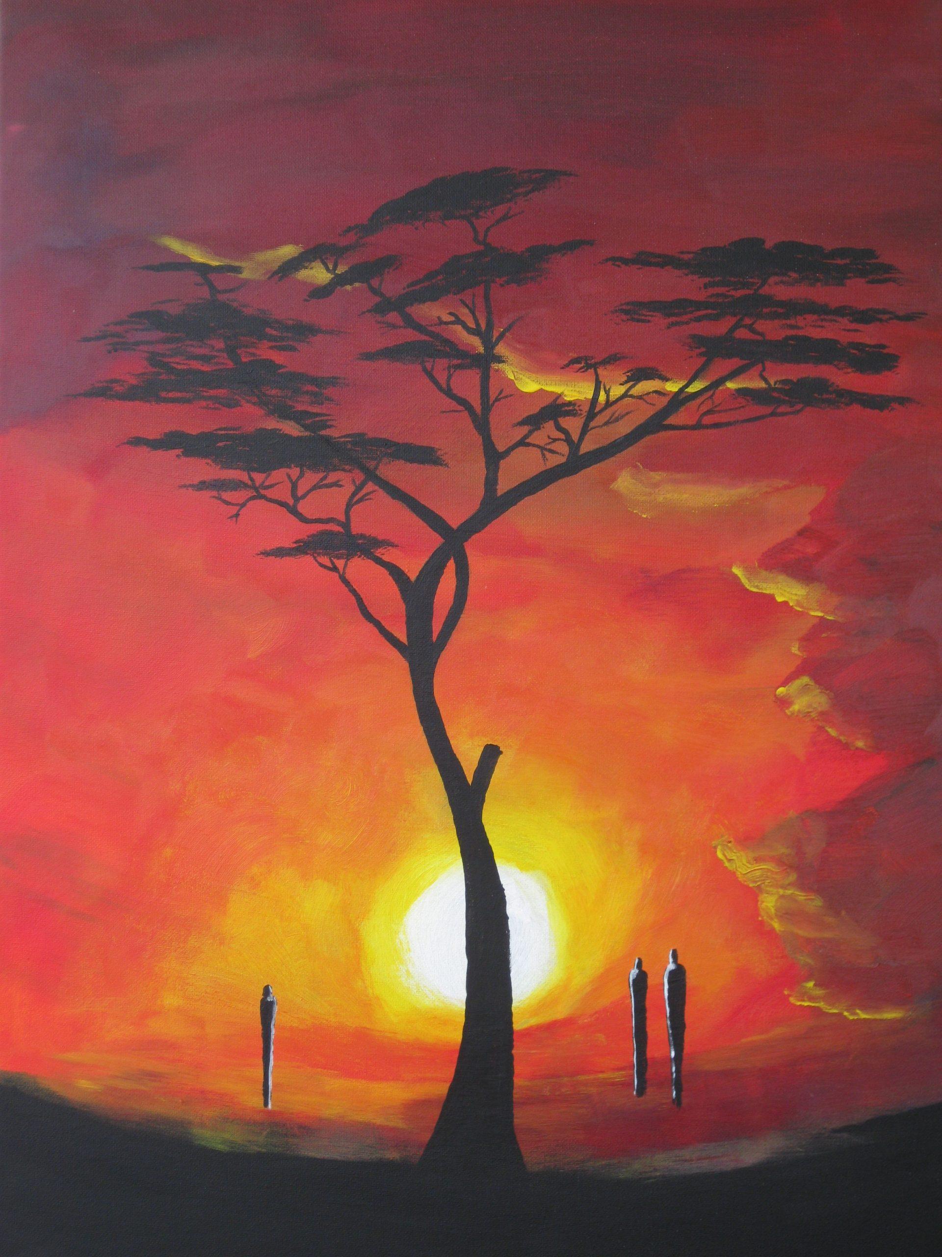 Acryl/leinwand 50 Cm X 70 Cm X 1,5 Cm Wächter Der Sonne 270 in Vorlagen Für Acrylbilder
