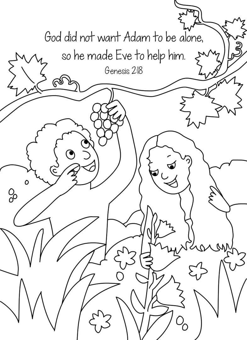 Adam And Eve Coloring Pages (Mit Bildern) | Bibel über Malvorlage Adam Und Eva