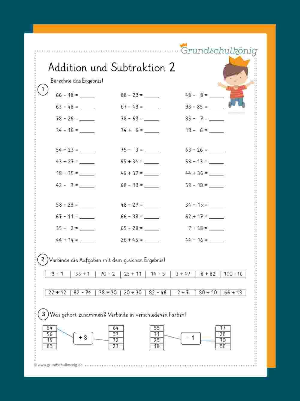 Subtrahieren 2. Klasse Erklären