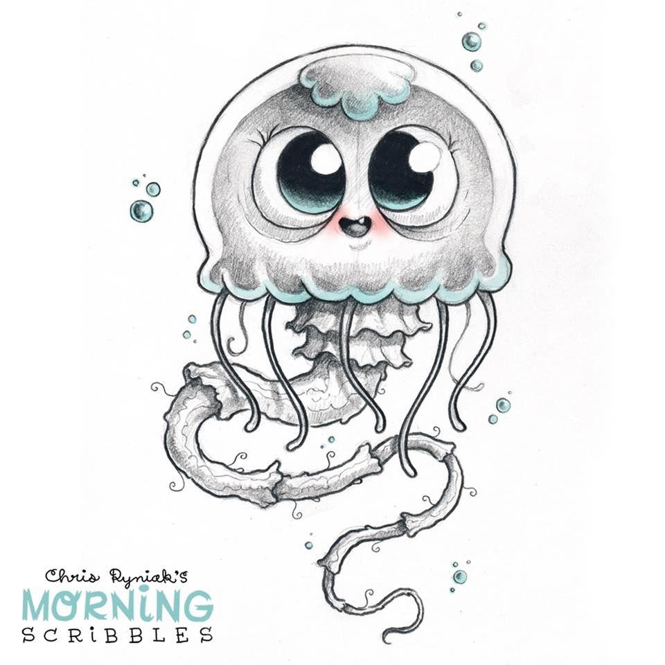 Adorable Jellyfish | Niedliche Zeichnungen, Monster für Süße Bilder Zum Zeichnen