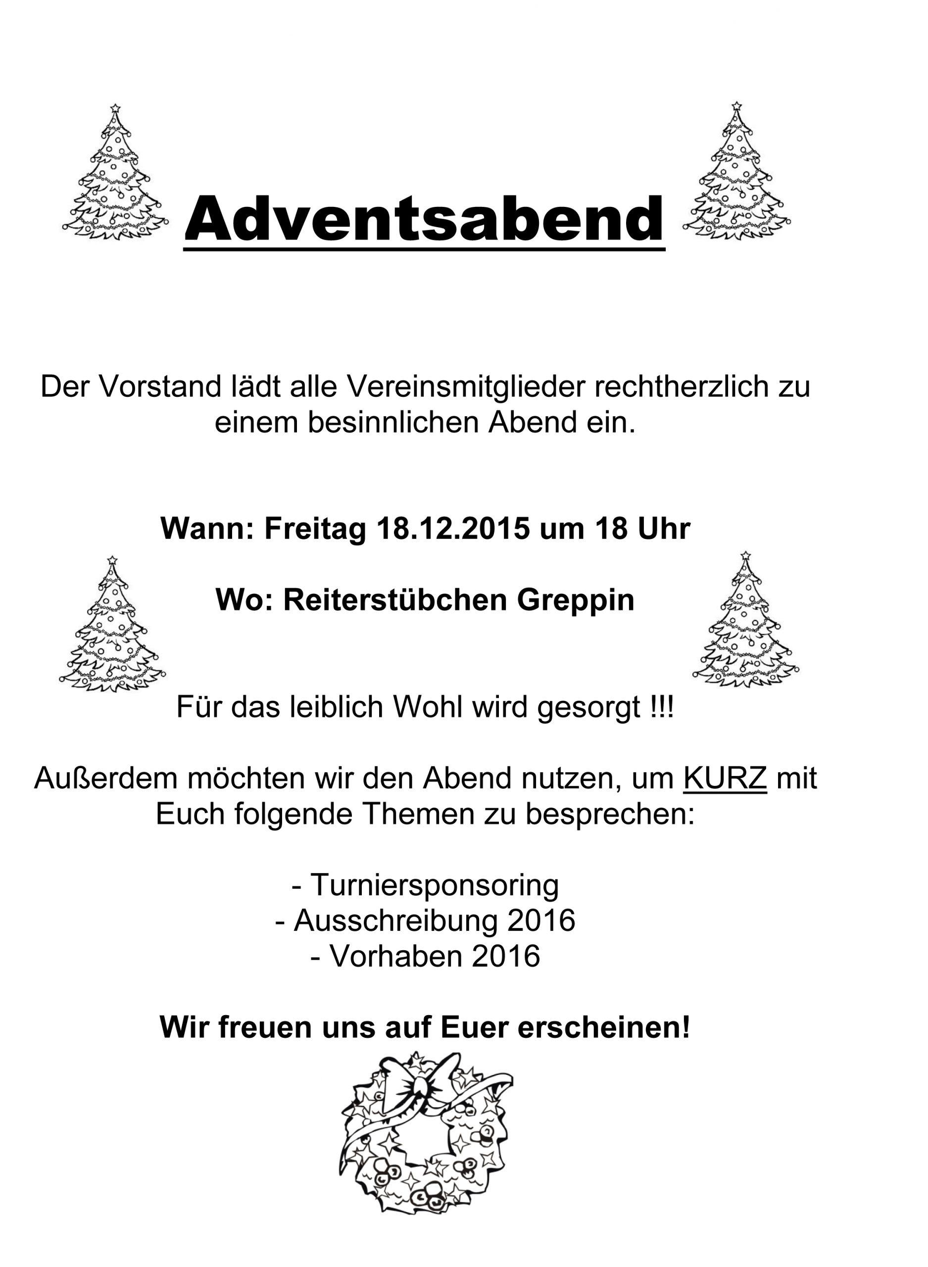 Advent, Advent, Ein Lichtlein Brennt – Rv Greppin 1990 E.v. bestimmt für Advent Advent Ein Türke Brennt