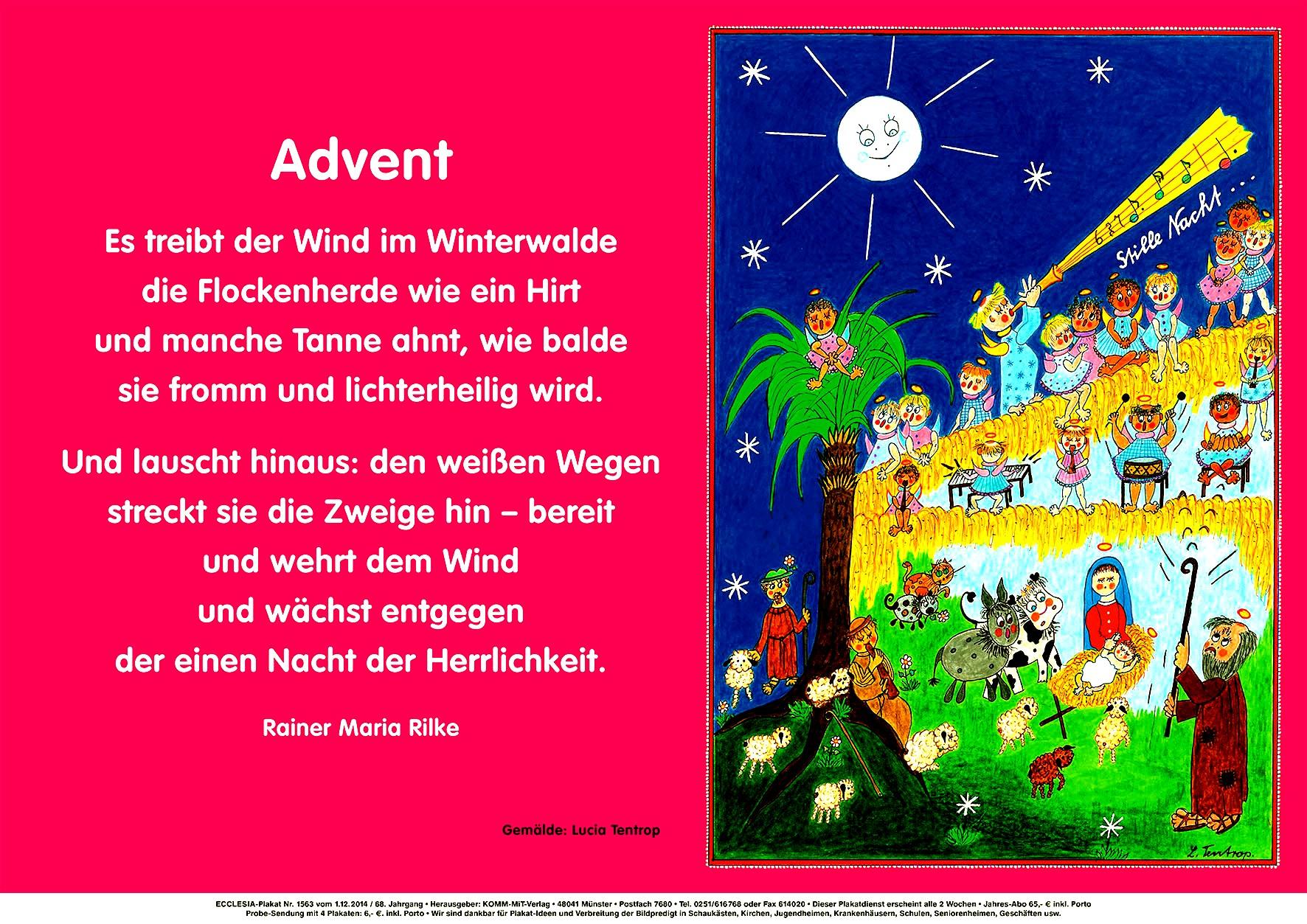 Adventsgedicht | Christliches Forum ganzes Gedichte Zum Advent Für Kindergartenkinder