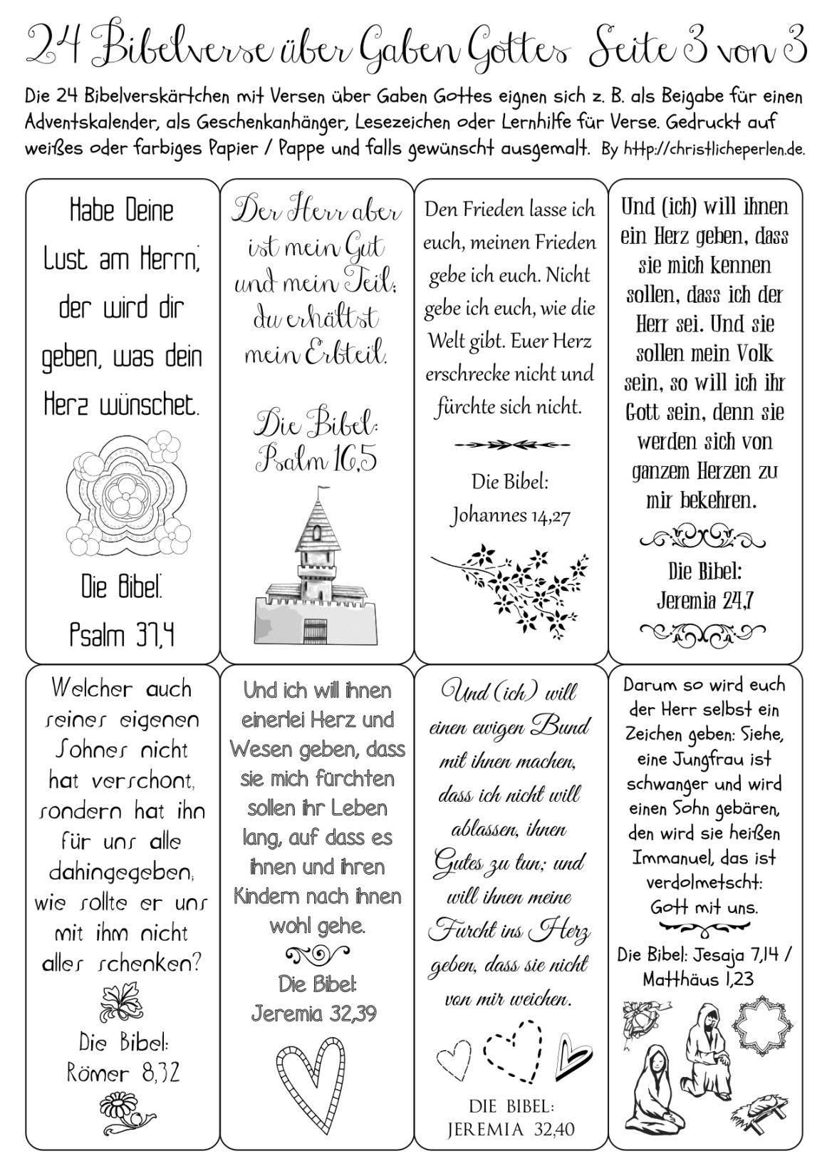 Adventskalender | Christliche Perlen | Adventkalender ganzes 24 Kurze Gedichte Für Adventskalender