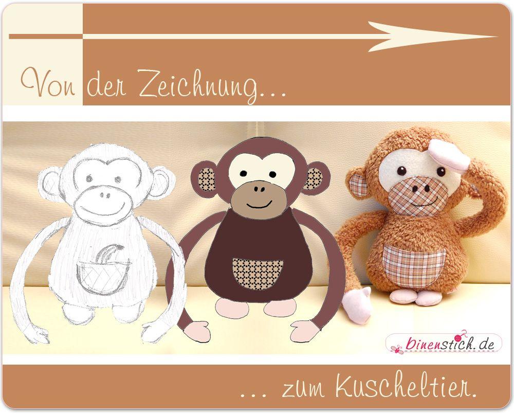 Affe Schnittmuster: Arni Affe Nähen Anleitung Schimpanse über Affe De Kostenlos