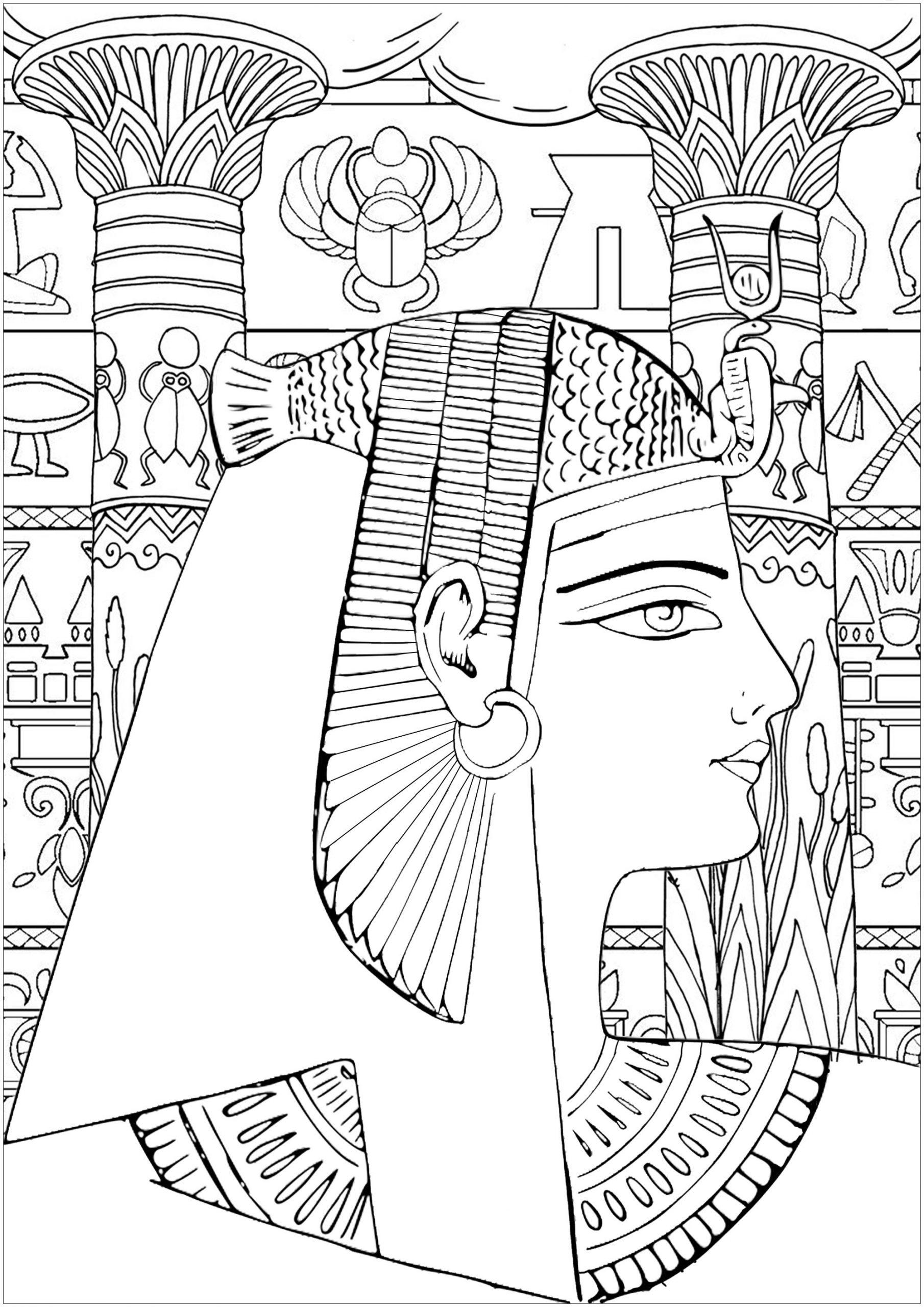 Agypten Und Hieroglyphen 6760 - Ägypten Und Hieroglyphen verwandt mit Ausmalbilder Ägypten