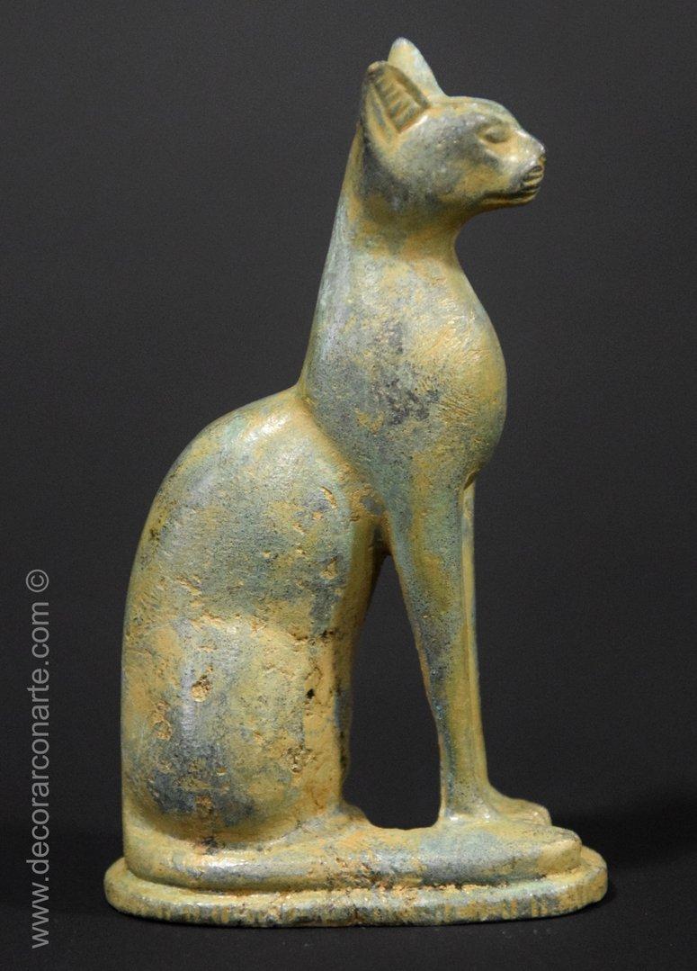 Ägyptische Katze. Göttin Bastet. 13 Cm. Geschenke Und bestimmt für Ägyptische Katzengöttin