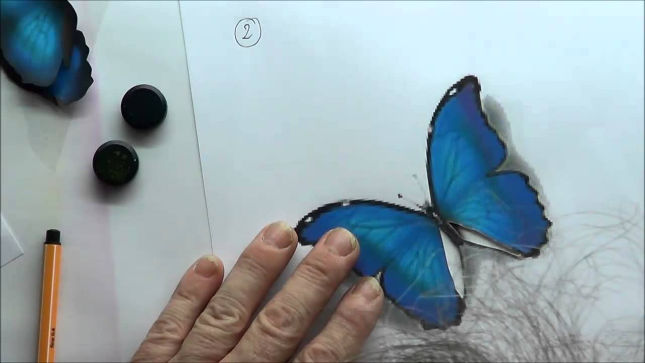 Airbrush Schablonen Zum Ausdrucken - Der Schmetterling ganzes Airbrush Schablonen Ausdrucken