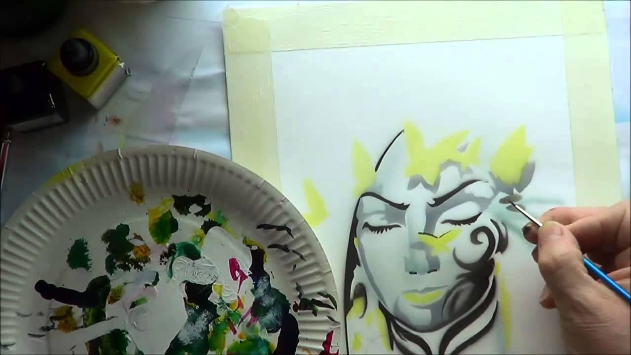Airbrush Schablonen Zum Ausdrucken Schmetterling Traum Teil 2 verwandt mit Airbrush Schablonen Ausdrucken