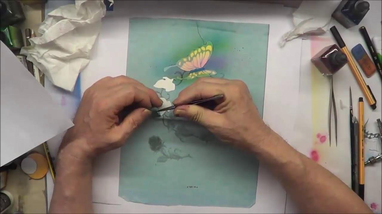 Airbrush Schmetterling Bilderrahmen Mit Schablonen Zum Ausdrucken Teil 1 bei Airbrush Schablonen Ausdrucken