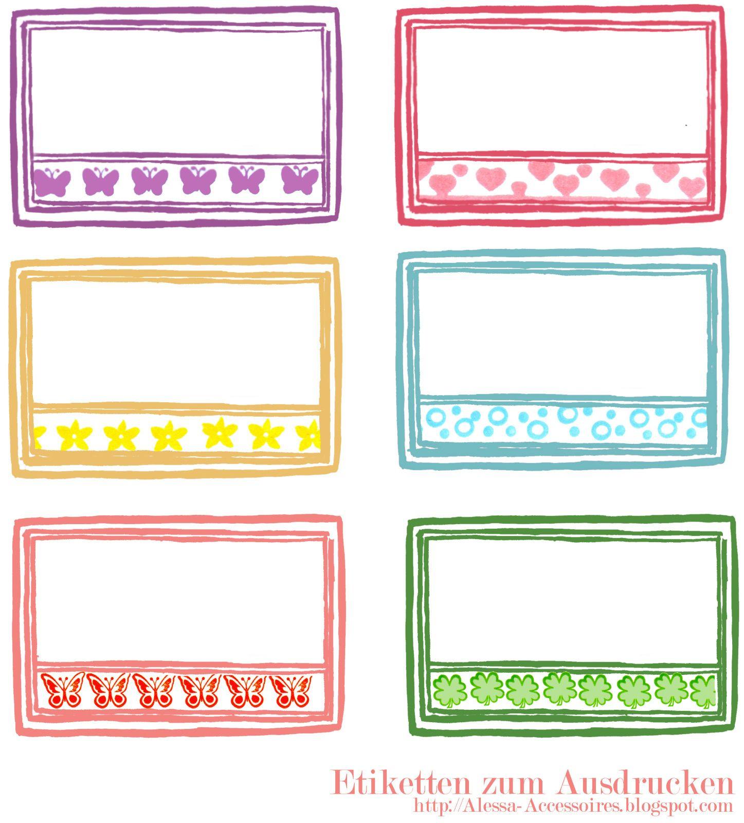 Alessas Blog   Ausdrucken, Etiketten Selber Drucken bestimmt für Namensschilder Selber Drucken Vorlagen