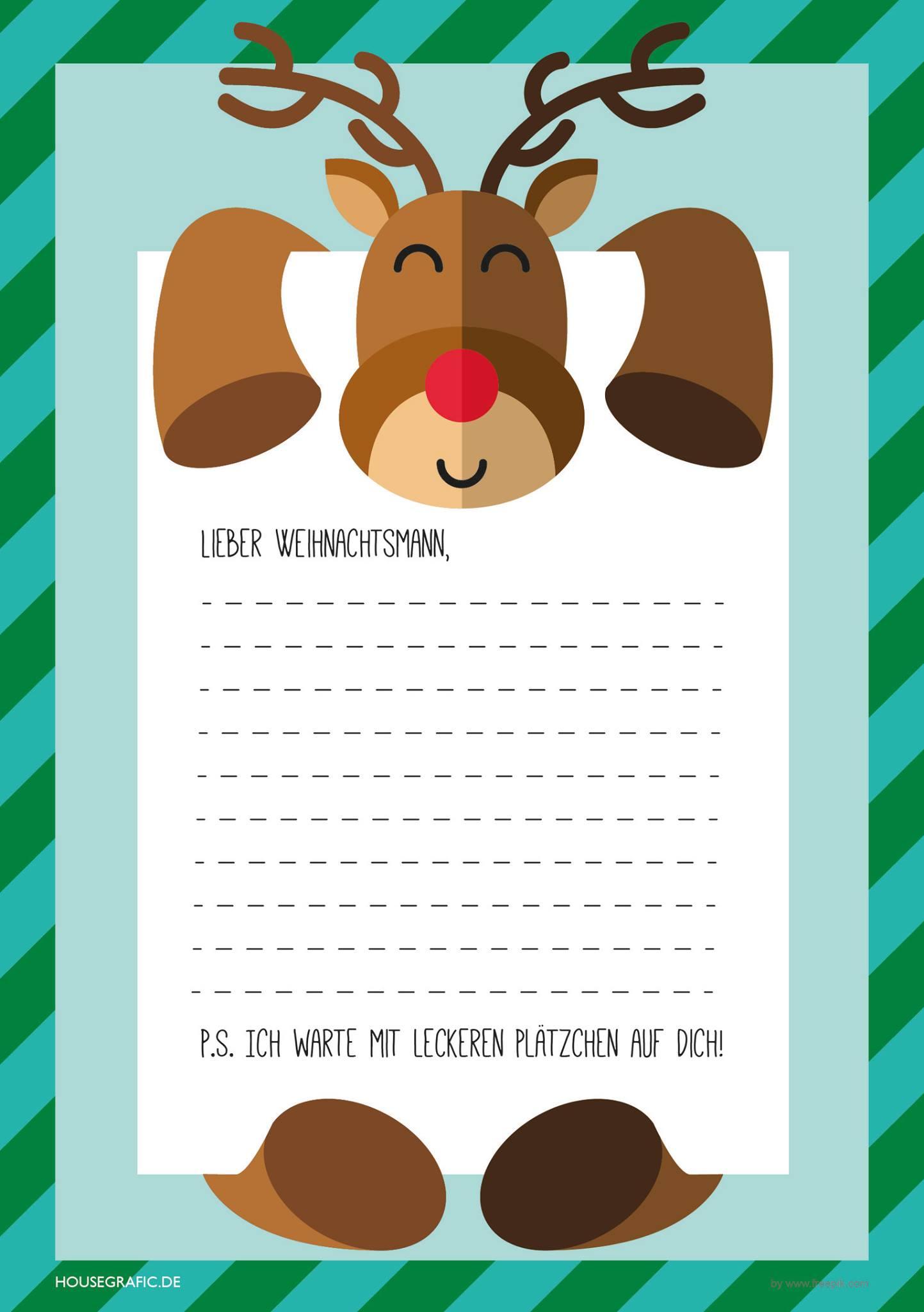 Alle Jahre Wieder – Wunschzettel Zum Ausdrucken & Ausfüllen bei Weihnachtswunschzettel Zum Ausdrucken