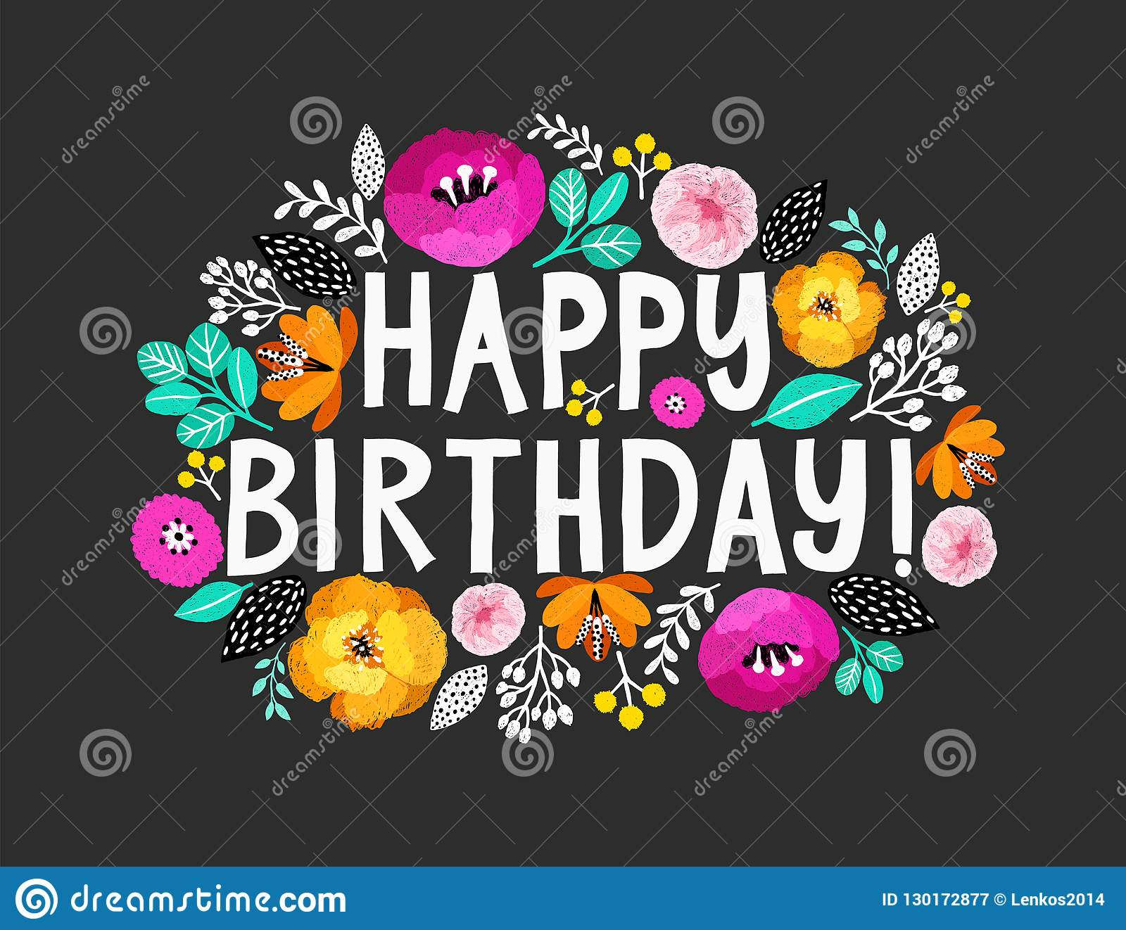 Alles Gute Zum Geburtstag Schöne Grußkarte Mit Hand mit Schöne Bilder Zum Geburtstag