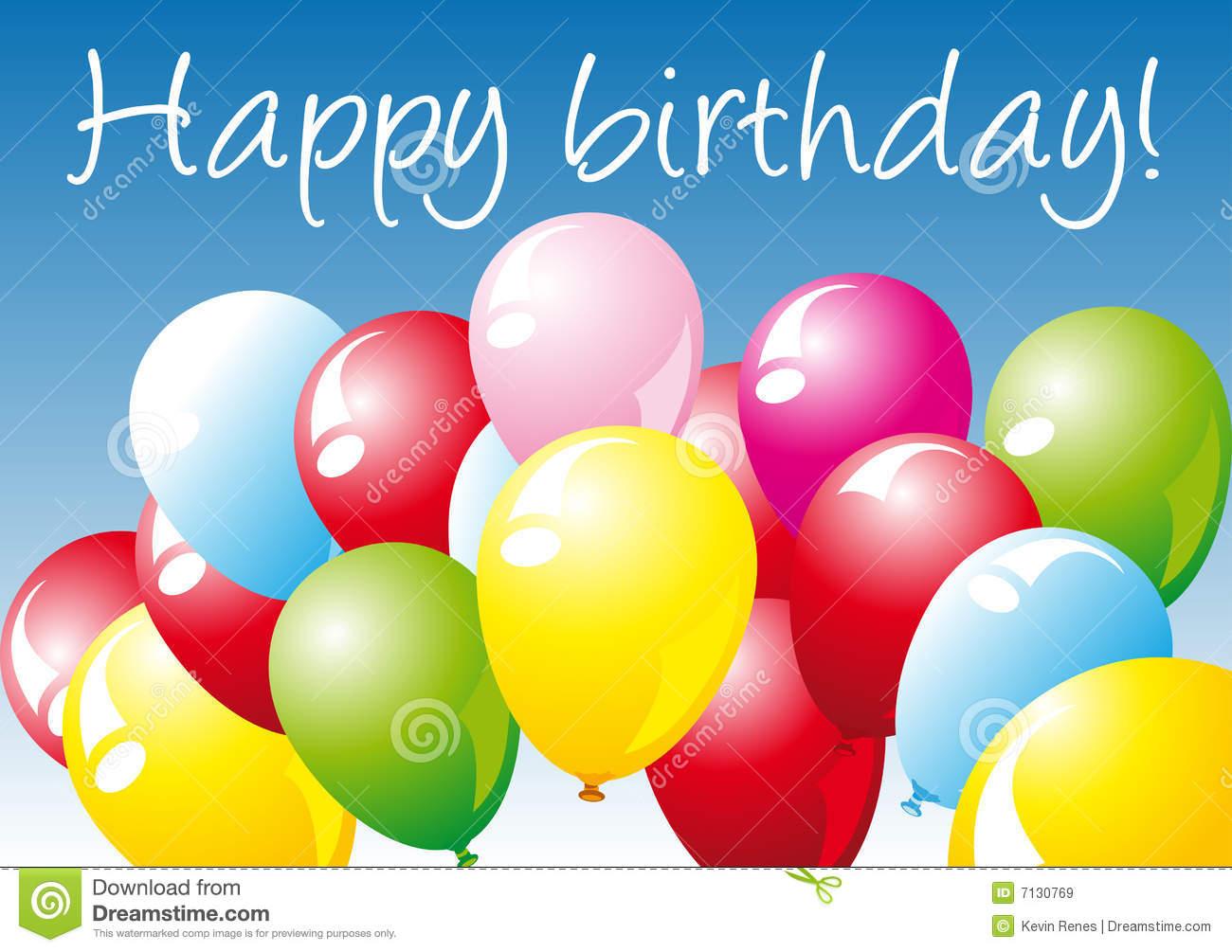 Alles Gute Zum Geburtstag Vektor Abbildung. Illustration Von verwandt mit Geburtstagsbilder Download