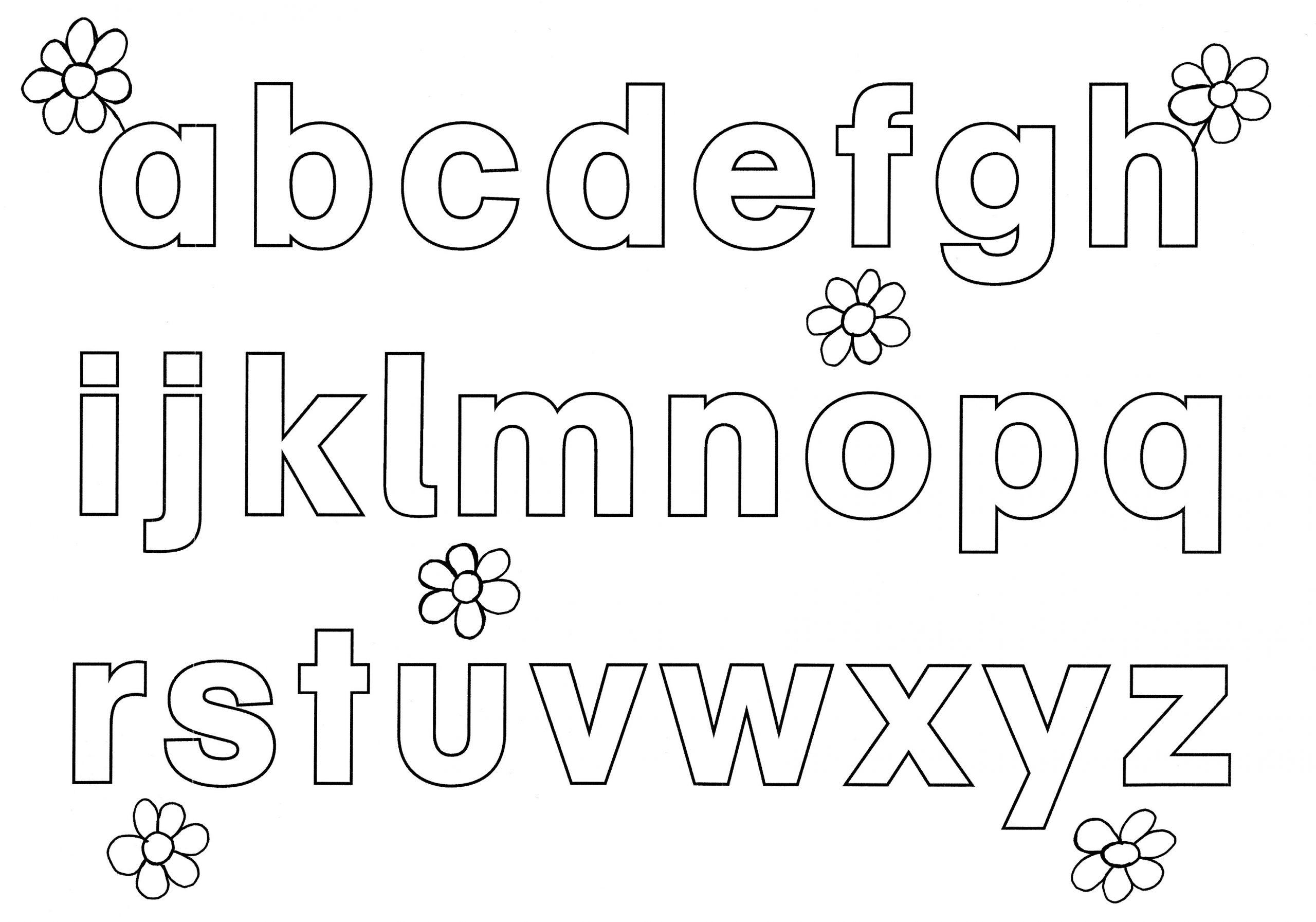 Alphabet Ausmalbilder - Malvorlagen Für Kinder mit Abc Buchstaben Zum Ausdrucken