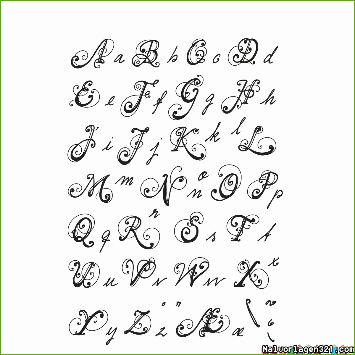 Alphabet Buchstaben Ausdrucke - Malvorlagen Für Kinder über Buchstaben Ausdrucken