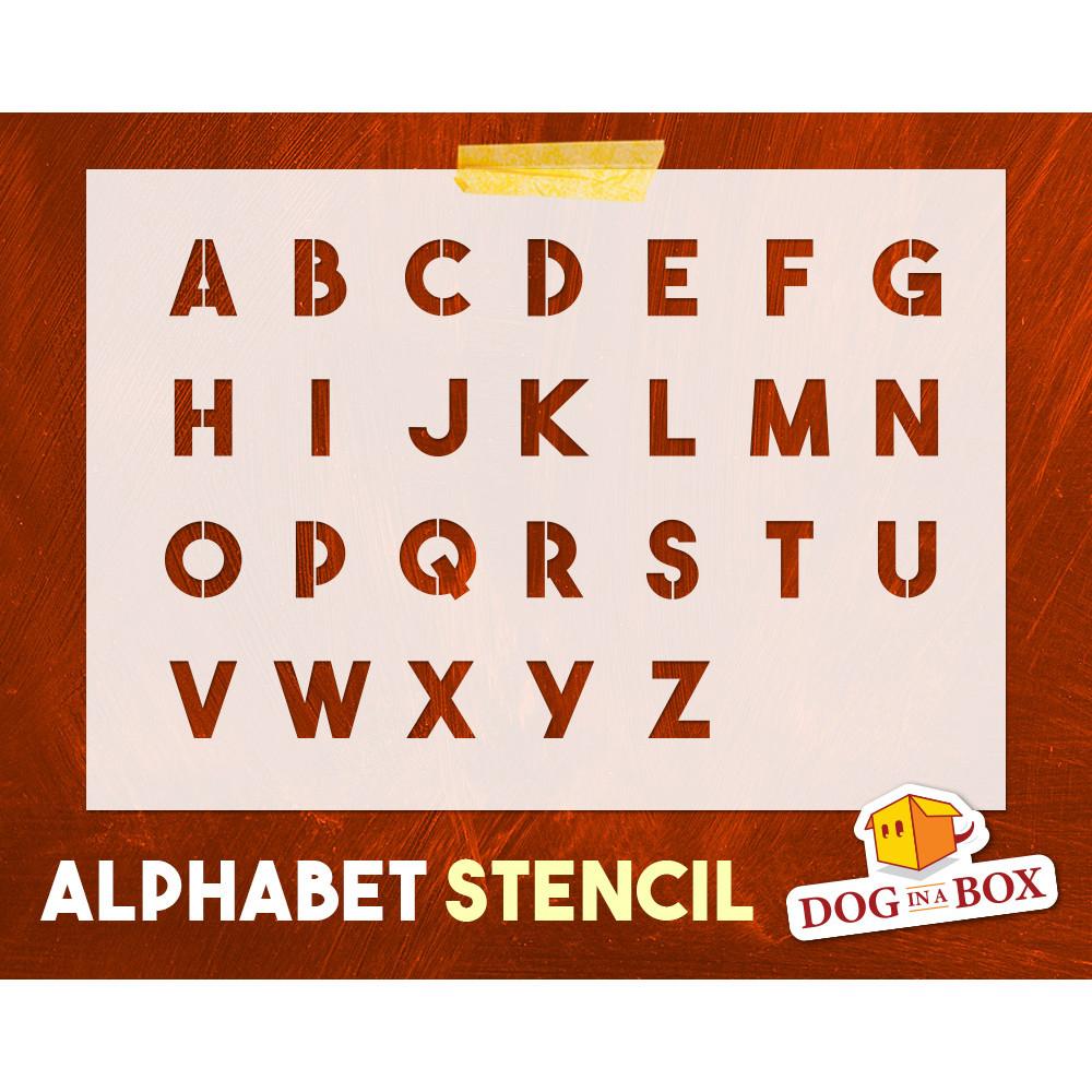 Alphabet-Schablone Nr. 17 - Großbuchstaben-Schablone. Schriftschablone Für  Holzschilder, Hochzeitsschablonen Oder Benutzerdefini bestimmt für Alphabet Großbuchstaben