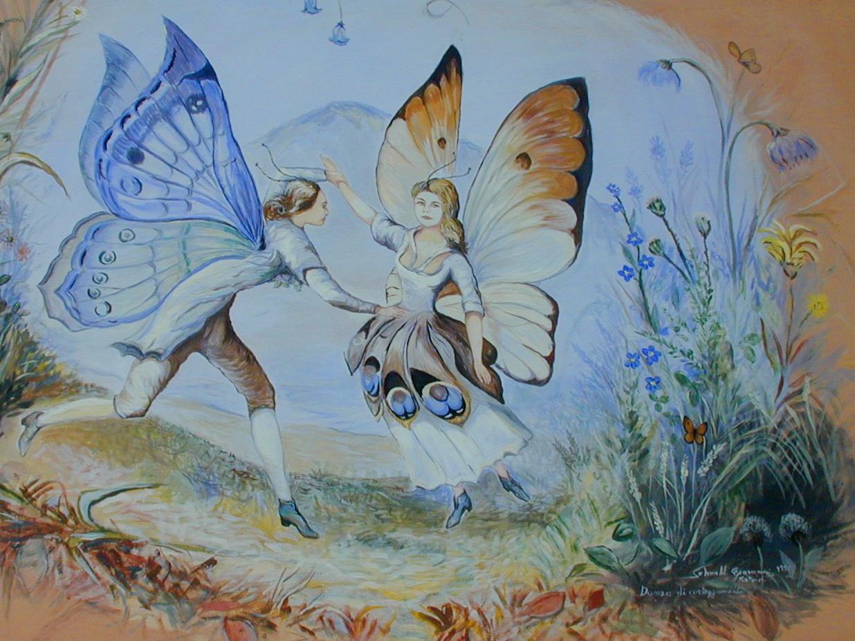 Als Würde Der Maler, Das Lied In Ein Bild Fassen Wollen über Schmetterling Du Kleines Ding Such Dir Eine Tänzerin