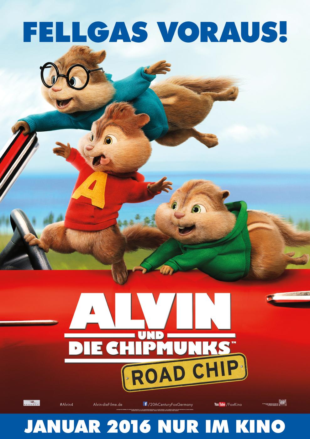 Alvin Und Die Chipmunks: Road Chip - Film 2015 - Filmstarts.de für Alvin Und Die Chipmunks 4 Trailer