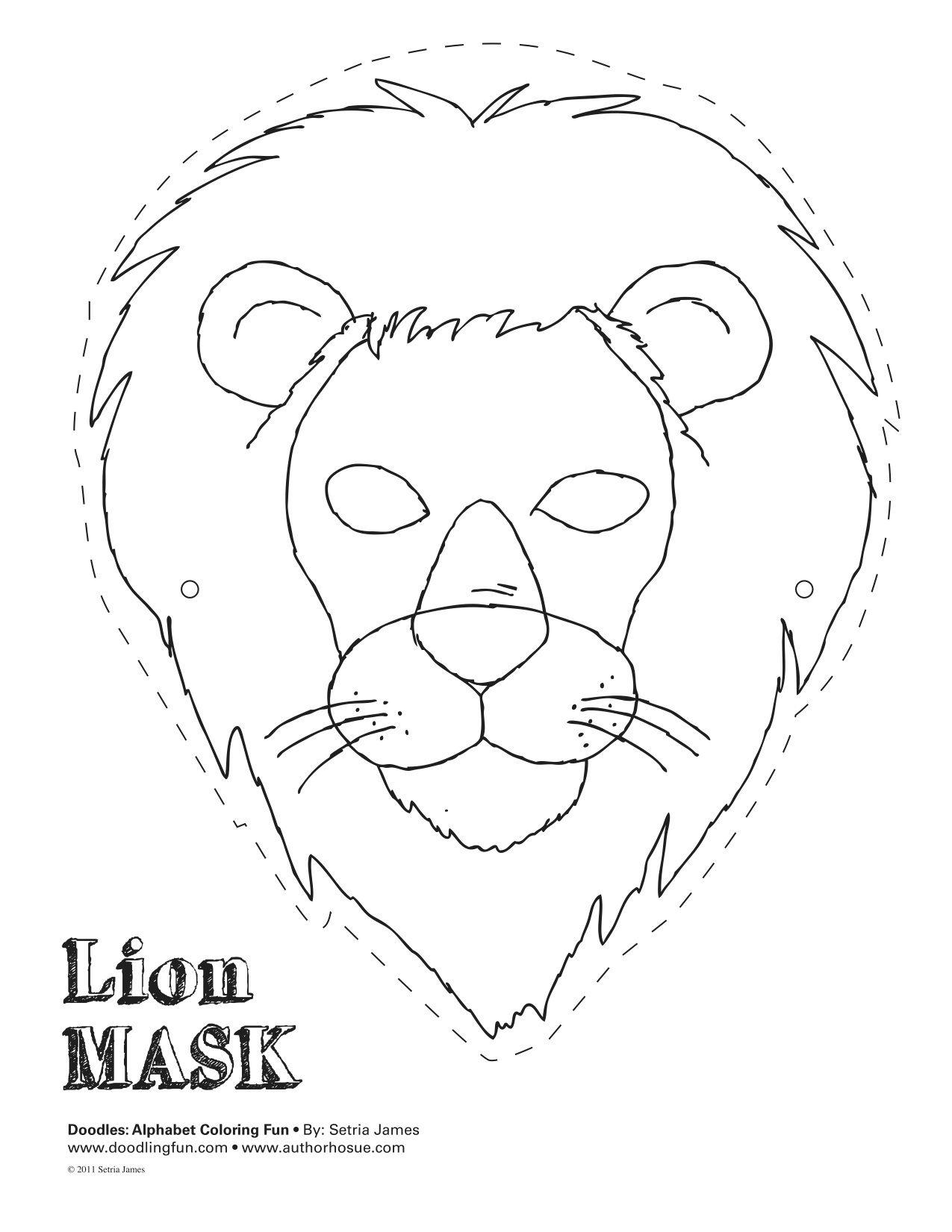 Animal Mask Templates - Google Search (Mit Bildern) | Masken bei Löwenmaske Basteln