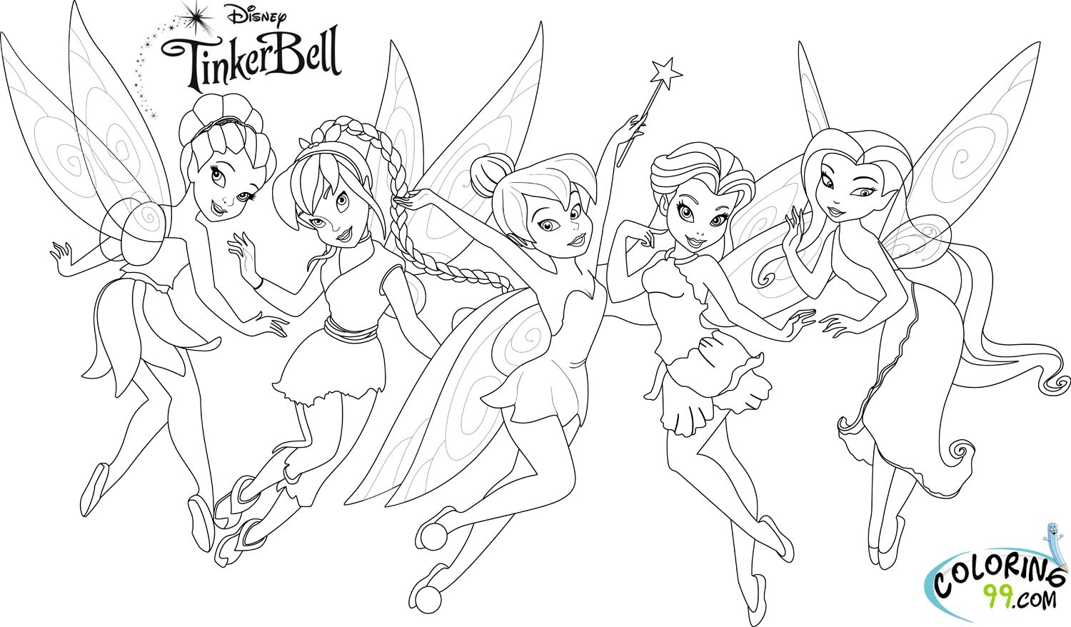 Anime-Enjoyable-Tinkerbell-And-Her-Friends-Coloring-Pages bei Ausmalbilder Tinkerbell Und Die Piratenfee