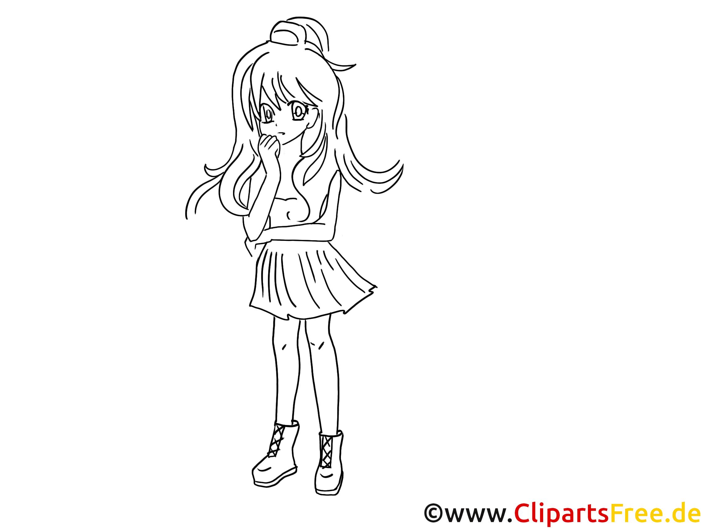 Anime Zum Ausmalen, Malvorlage, Ausmalbild Gratis mit Anime Bilder Zum Ausmalen