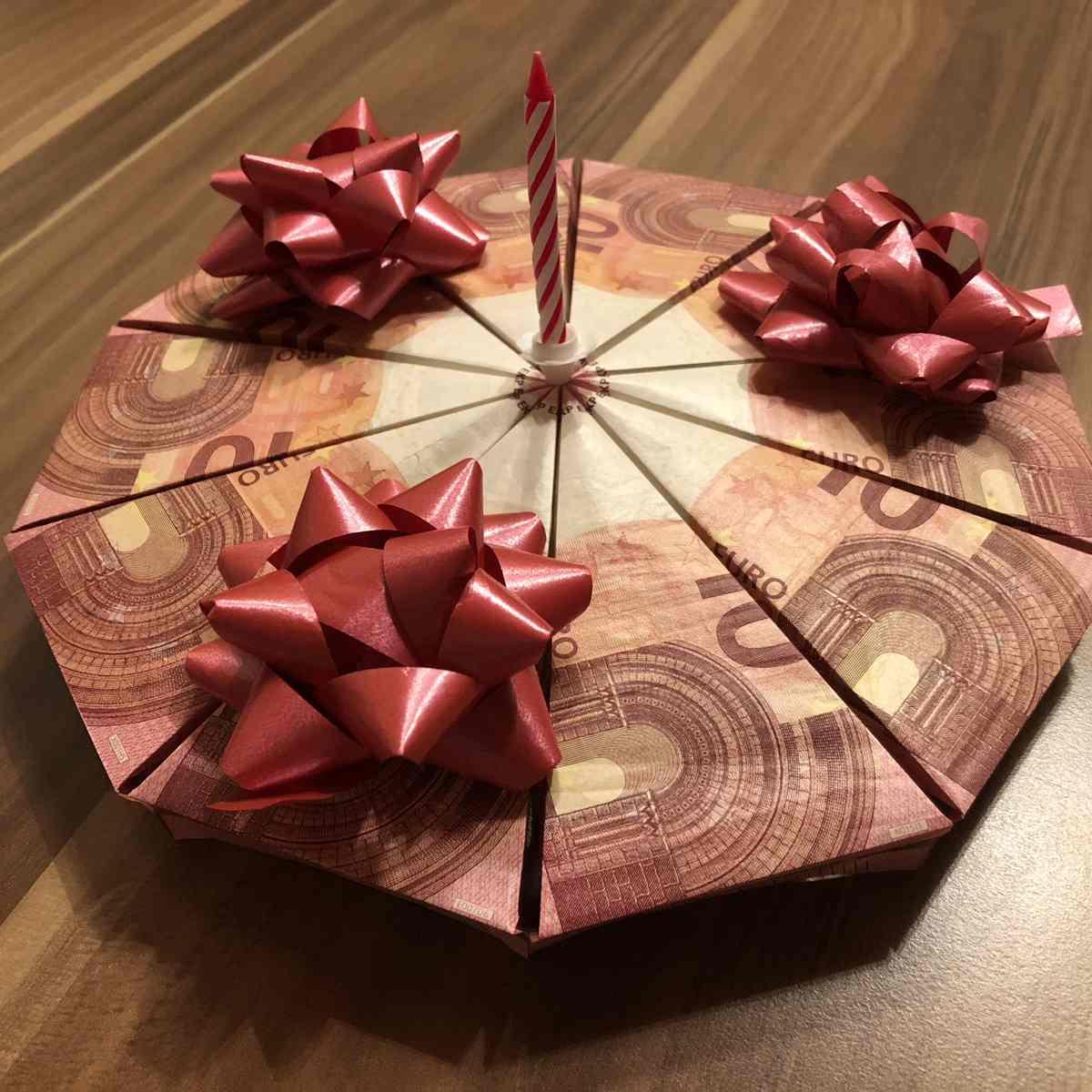 Anleitung Geldgeschenk Torte Basteln - Mama Maus Blog bei Geldgeschenke Geburtstag 60 Basteln