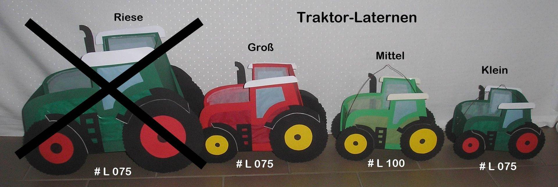 Anleitung Laterne Traktor** Versch. Größen bestimmt für Trecker Bastelvorlage