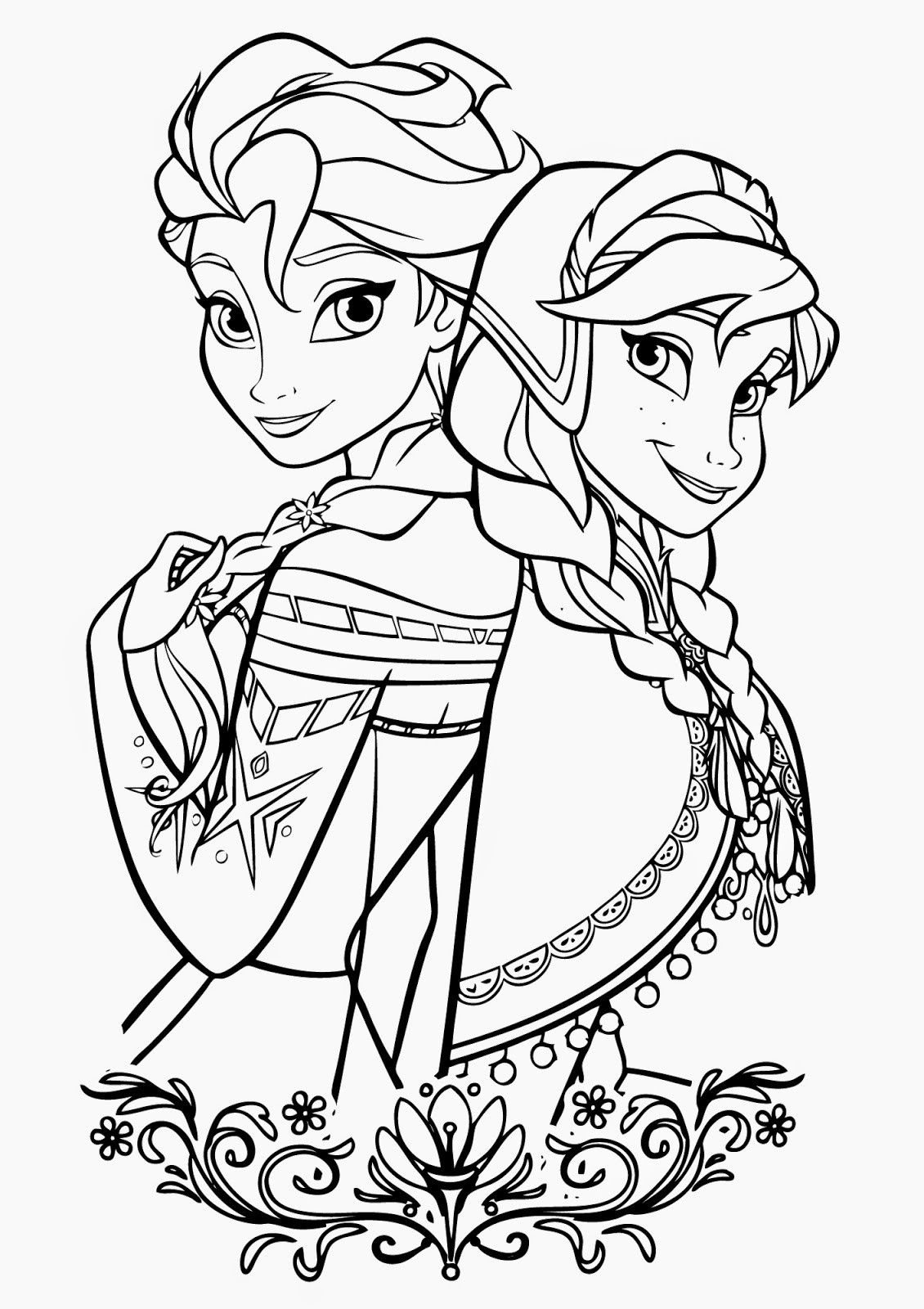 Anna Coloring Pages Printable Elsa And Anna Coloring Pages für Malvorlage Elsa