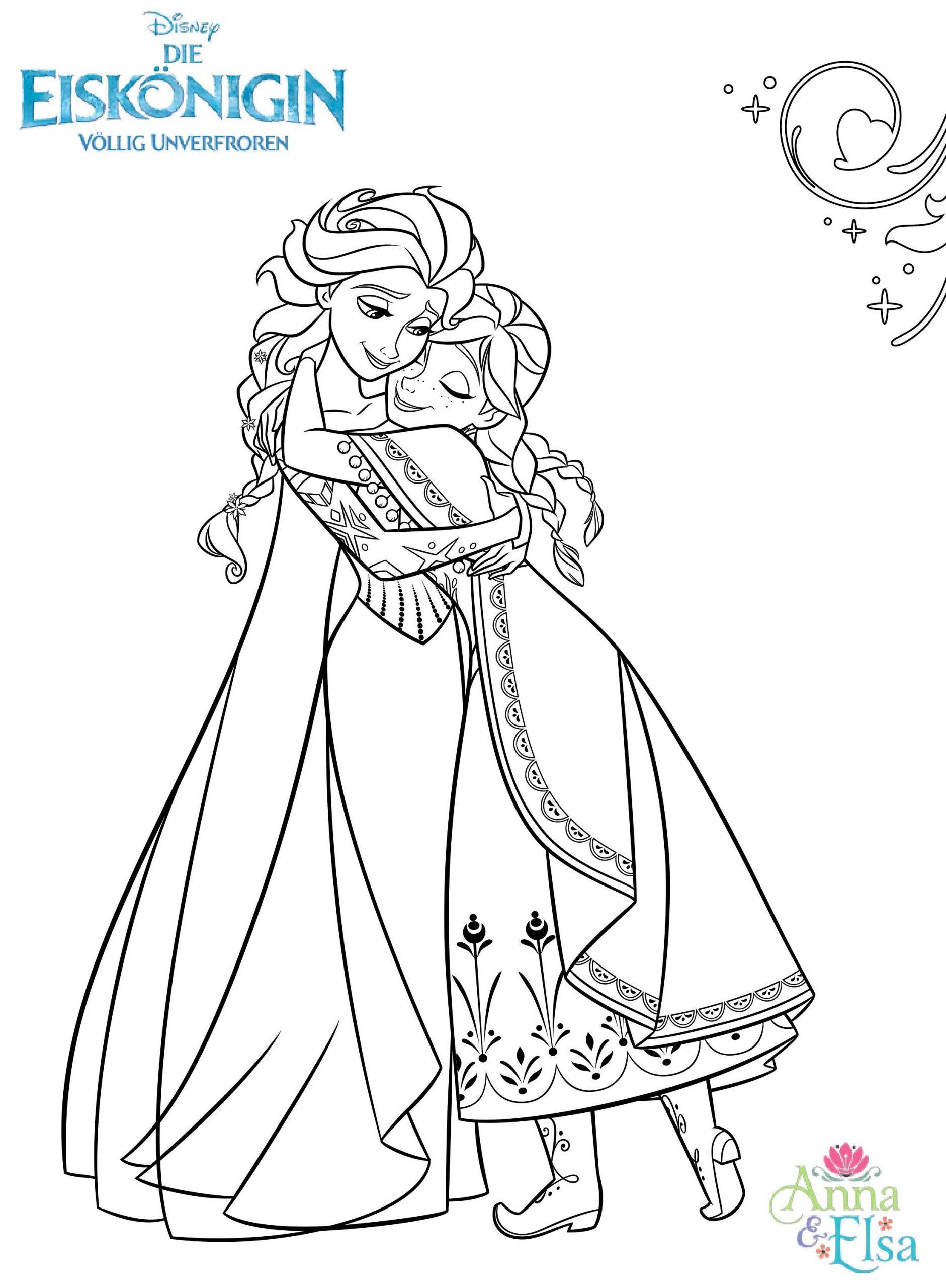 Anna Und Elsa Bilder Zum Ausdrucken Kostenlos innen Ausmalbilder Elsa
