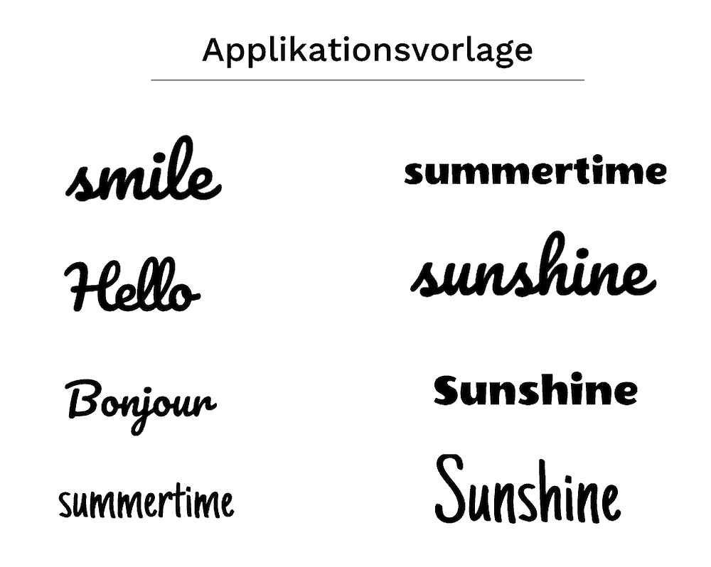 Applikation Nähen: Buchstaben Applizieren Auf Jersey Mit für Applikationsvorlagen Buchstaben