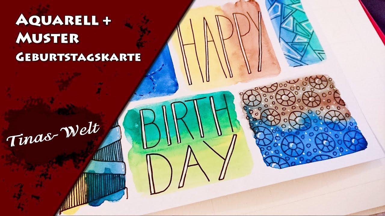 Aquarell + Muster Geburtstagskarte verwandt mit Geburtstagskarten Muster