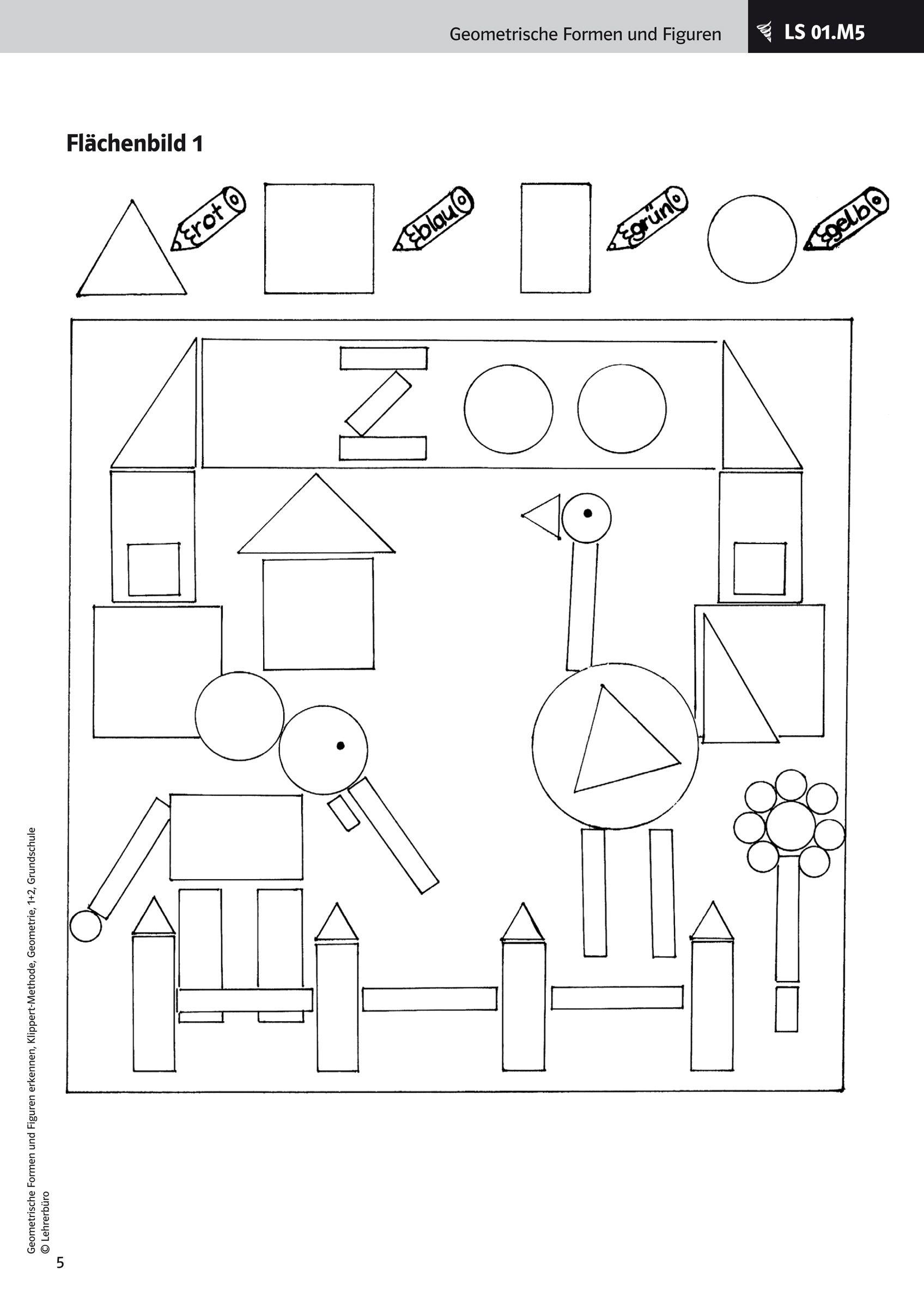 Arbeitsblatt Formen Luxus Kindergarten Kostenlose mit Geometrische Formen Im Kindergarten