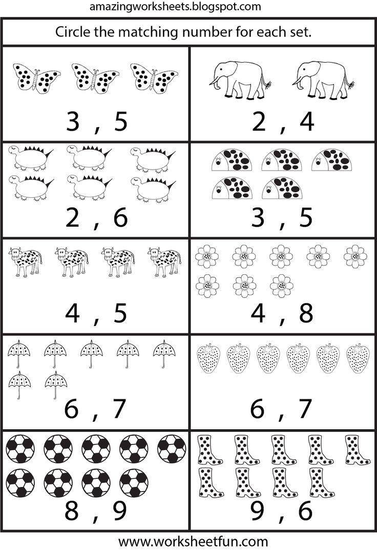 Arbeitsblätter Zählen Für Den Kindergarten Mehr für Arbeitsblätter Kindergarten Kostenlos