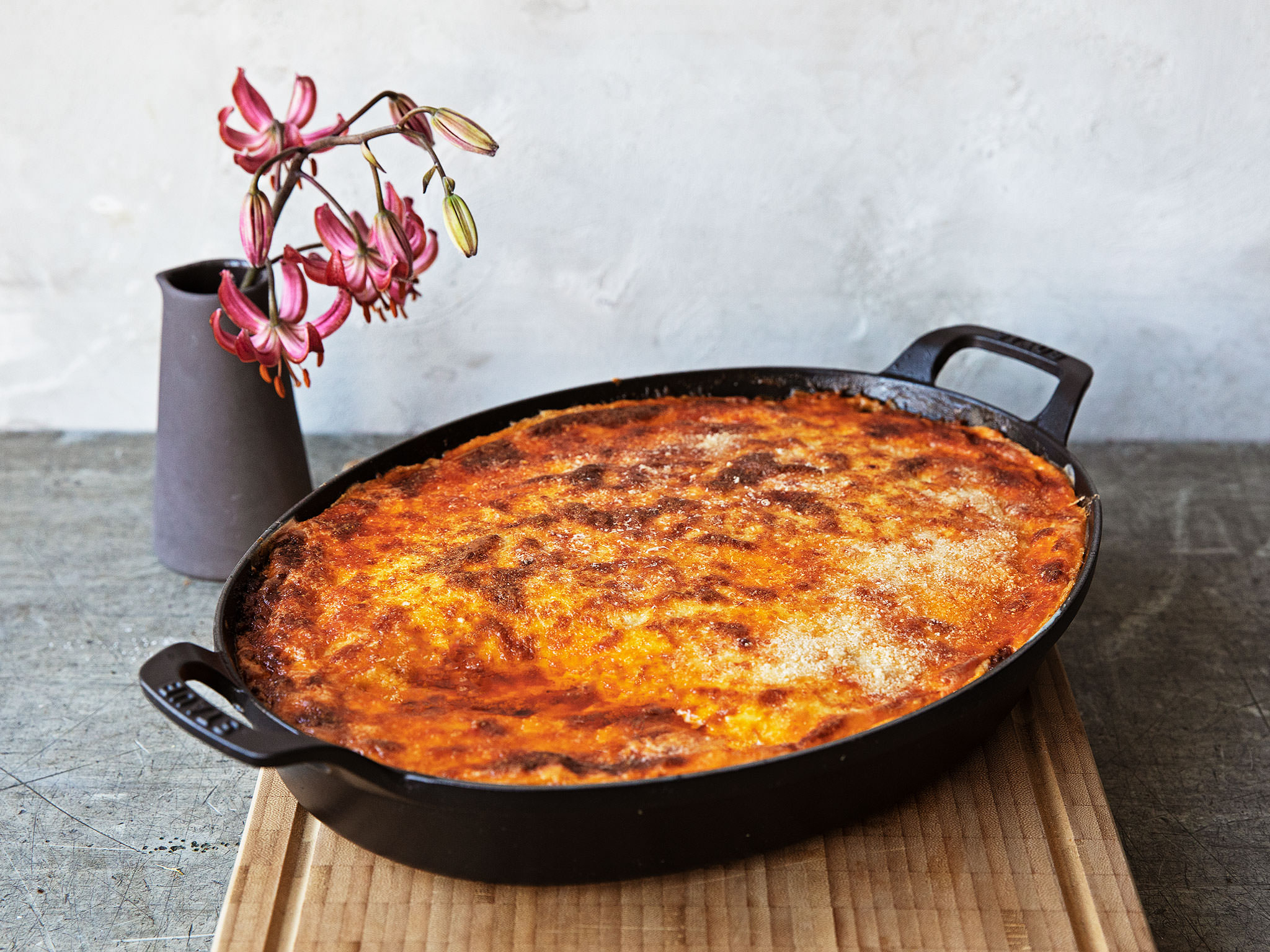 Auberginen-Moussaka bestimmt für Moussaka Rezept Kartoffeln Hackfleisch