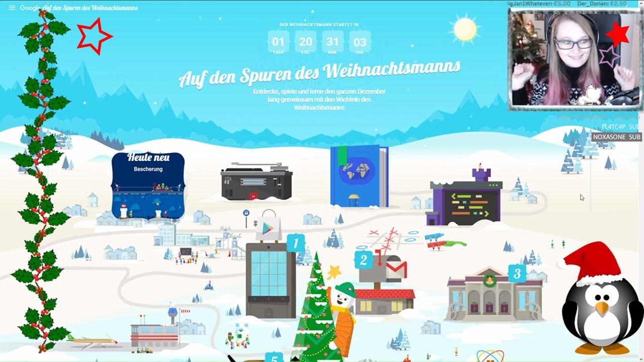 Auf Den Spuren Des Weihnachtsmanns #01 Der Google Adventksalender Im Test  :d • Let´s Play [Facecam] in Auf Den Spuren Des Weihnachtsmanns