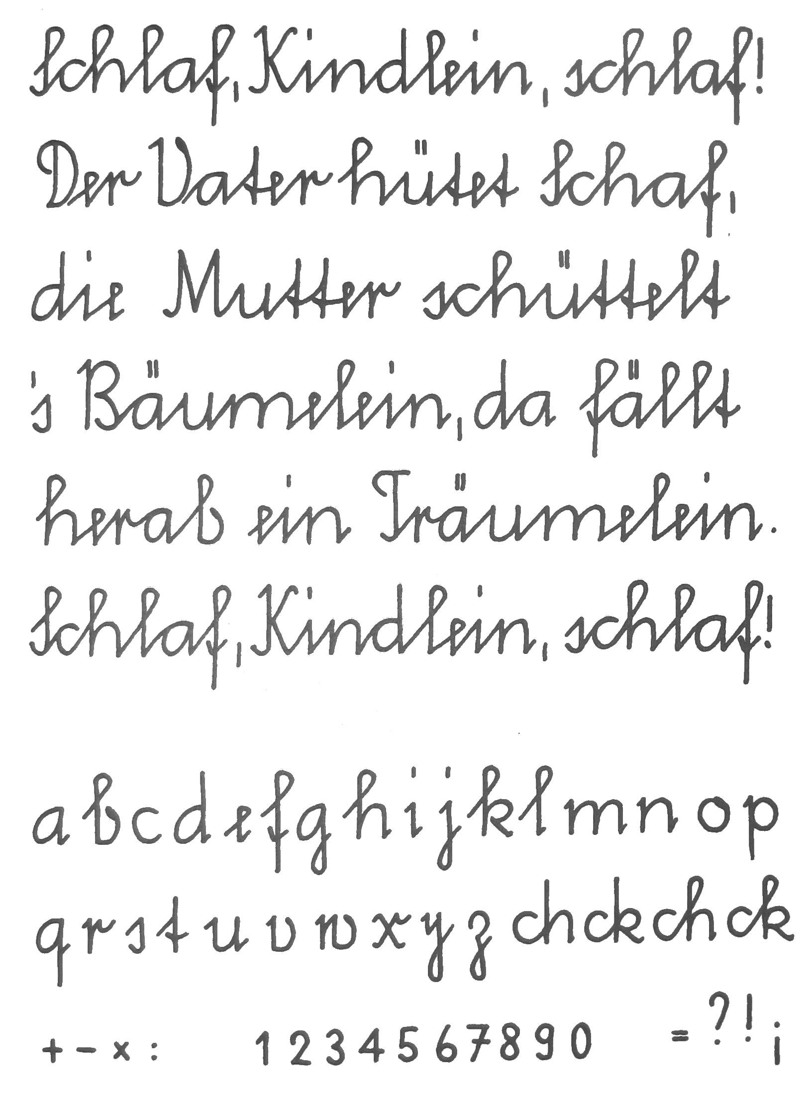 Ausgangsschrift – Wikipedia bei Alphabet Schreibschrift Grundschule