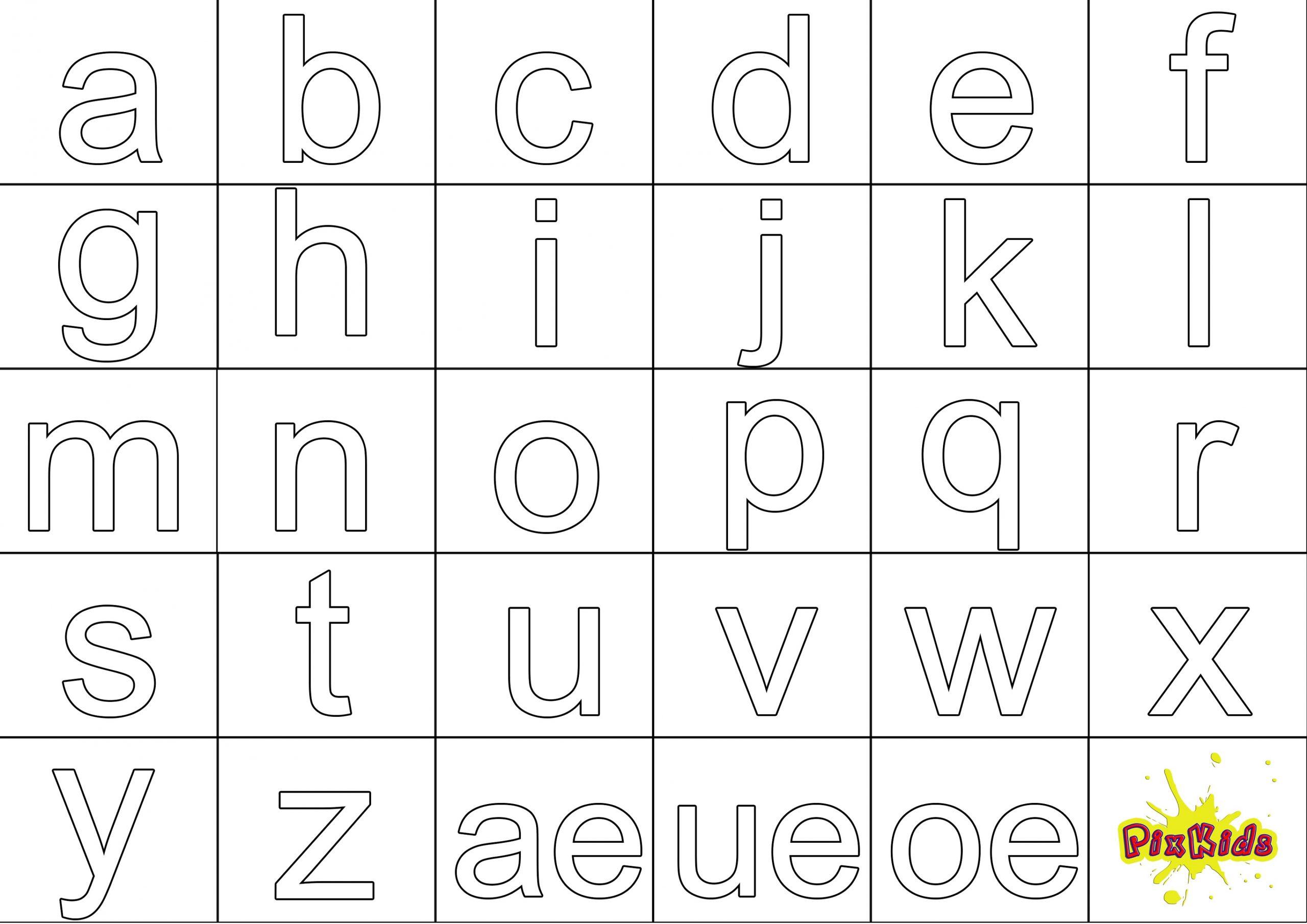 Ausmalbild Abc - Kostenlose Malvorlagen für Buchstaben Ausdrucken Gratis