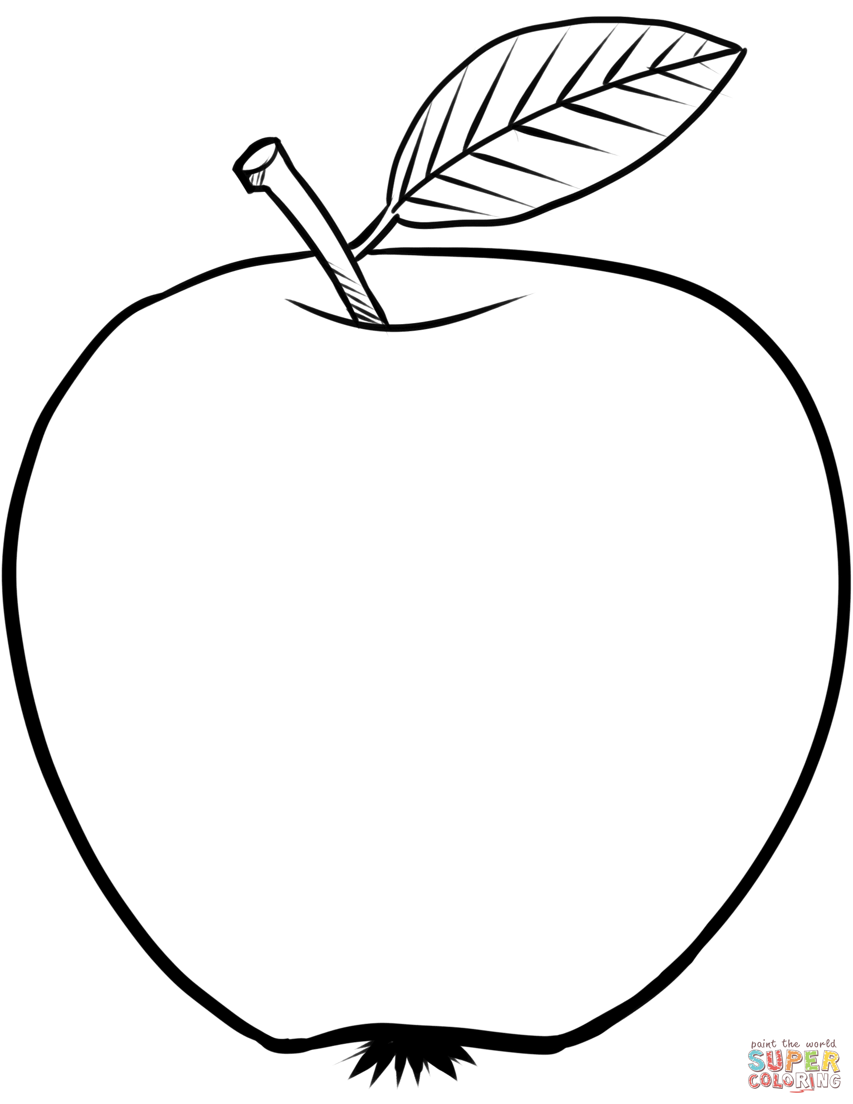 Ausmalbild: Apfel | Ausmalbilder Kostenlos Zum Ausdrucken mit Ausmalbild Apfel