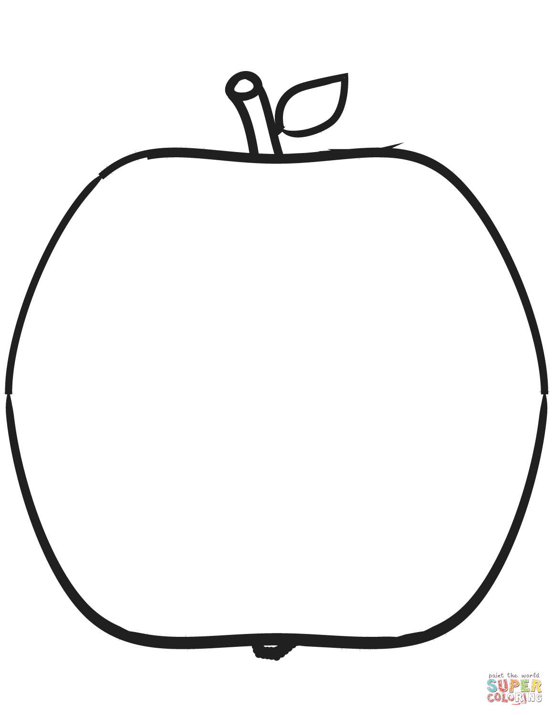 Ausmalbild: Apfel | Ausmalbilder Kostenlos Zum Ausdrucken verwandt mit Ausmalbild Apfel