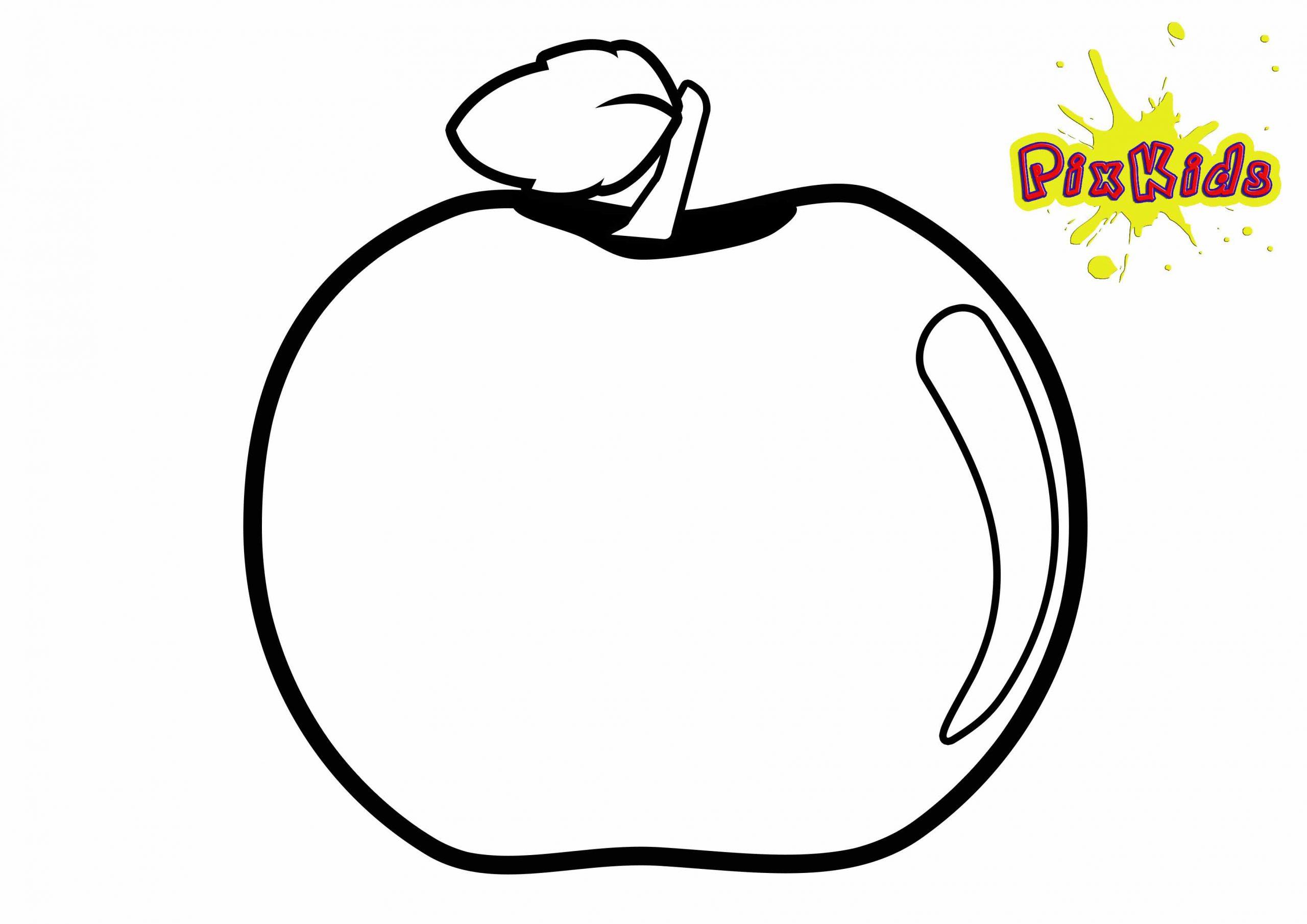 Ausmalbild Apfel - Kostenlose Malvorlagen bei Ausmalbild Apfel