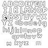 Ausmalbild Arbeitsblätter Für Kinder: Arbeitsblatt für Buchstaben Zum Ausdrucken