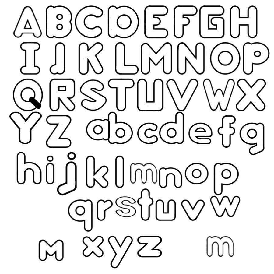 Ausmalbild Arbeitsblätter Für Kinder: Arbeitsblatt mit Buchstaben Ausdrucken