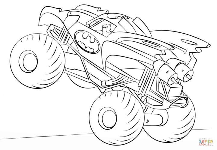 ausmalbild batman monster truck  ausmalbilder kostenlos