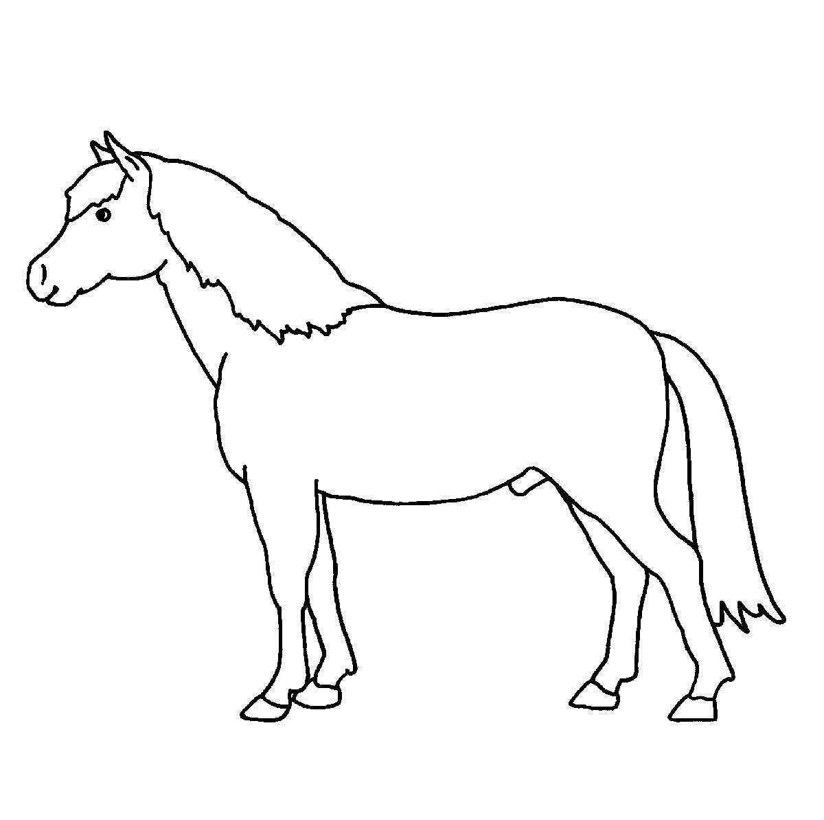 Ausmalbild Bauernhof: Ausmalbild Pferd Kostenlos Ausdrucken bei Pferde Bilder Zum Ausmalen Und Ausdrucken
