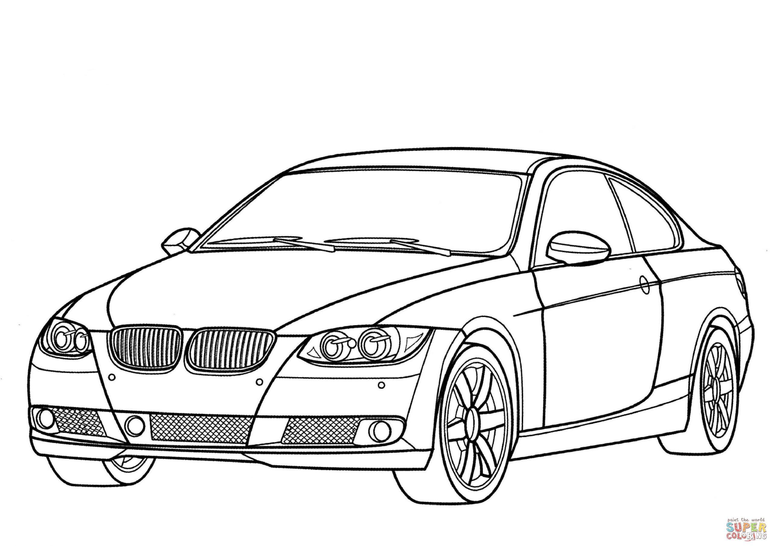 Ausmalbild: Bmw 3Er Reihe | Ausmalbilder Kostenlos Zum innen Ausmalbilder Auto Kostenlos