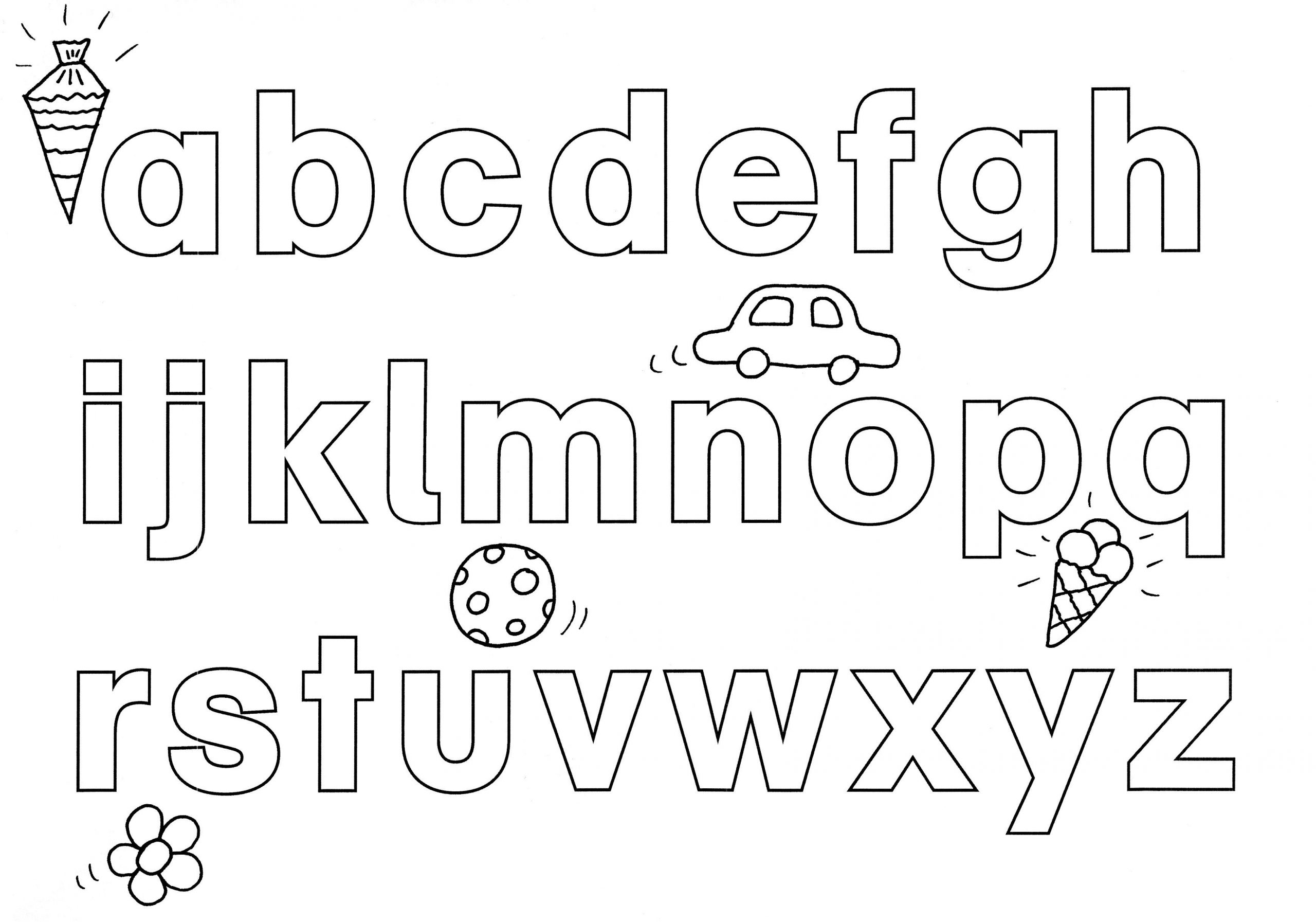 Ausmalbild Buchstaben Lernen: Abc Ausmalen Kostenlos in Buchstaben Zum Ausmalen