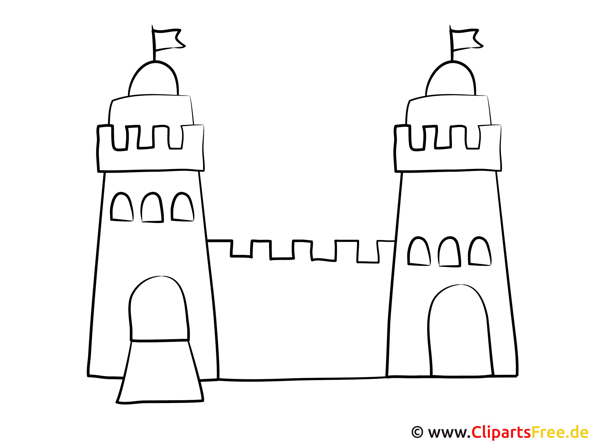 Ausmalbild Burg in Ausmalbild Burg